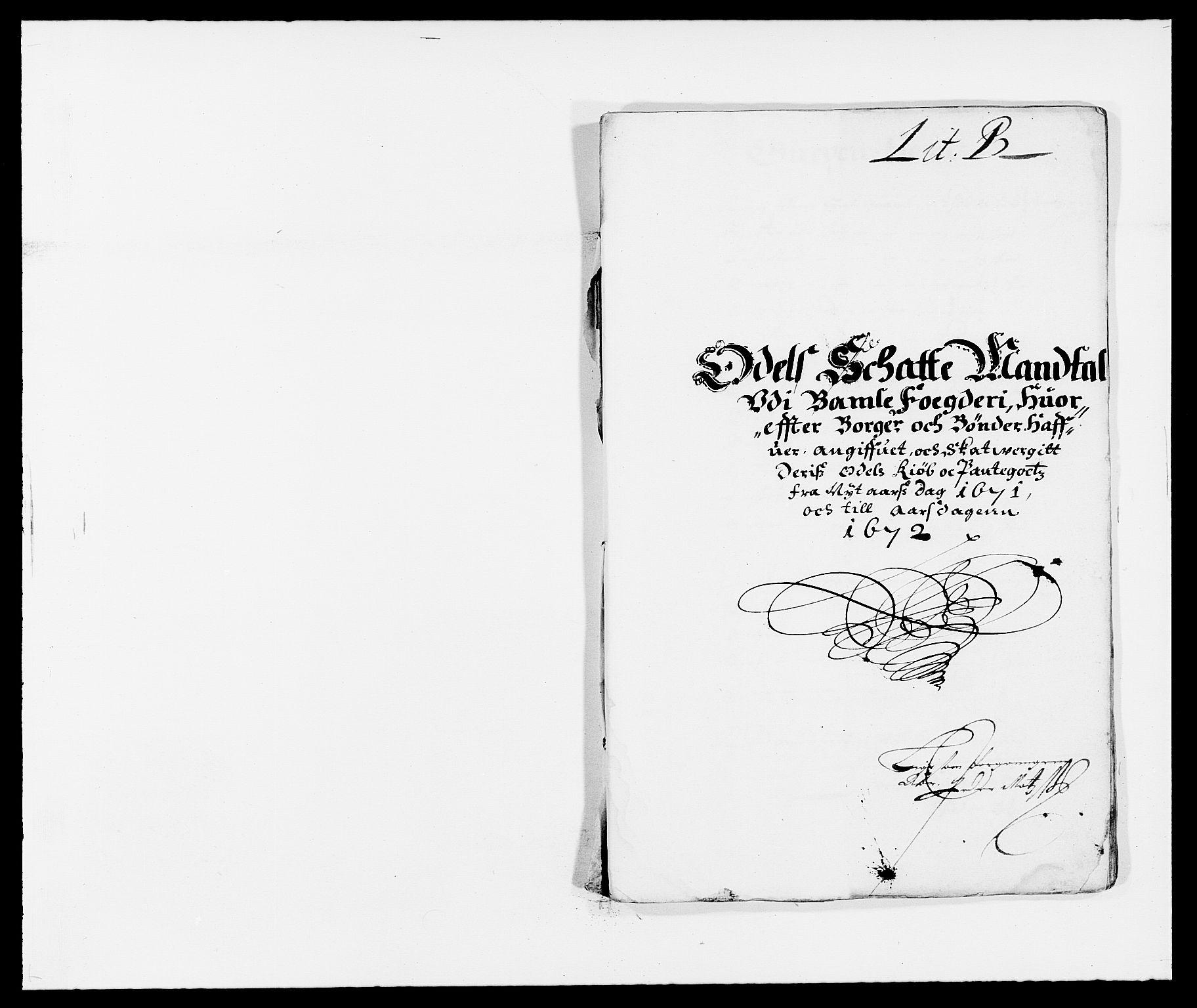 RA, Rentekammeret inntil 1814, Reviderte regnskaper, Fogderegnskap, R34/L2041: Fogderegnskap Bamble, 1670-1672, s. 168