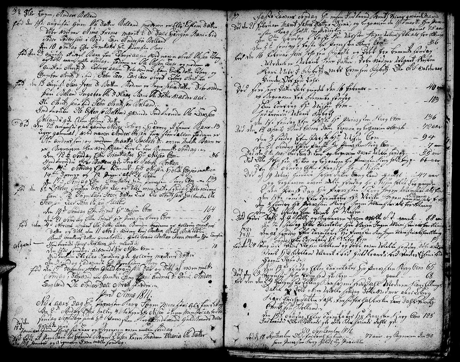 SAT, Ministerialprotokoller, klokkerbøker og fødselsregistre - Sør-Trøndelag, 693/L1120: Klokkerbok nr. 693C01, 1799-1816, s. 32-33