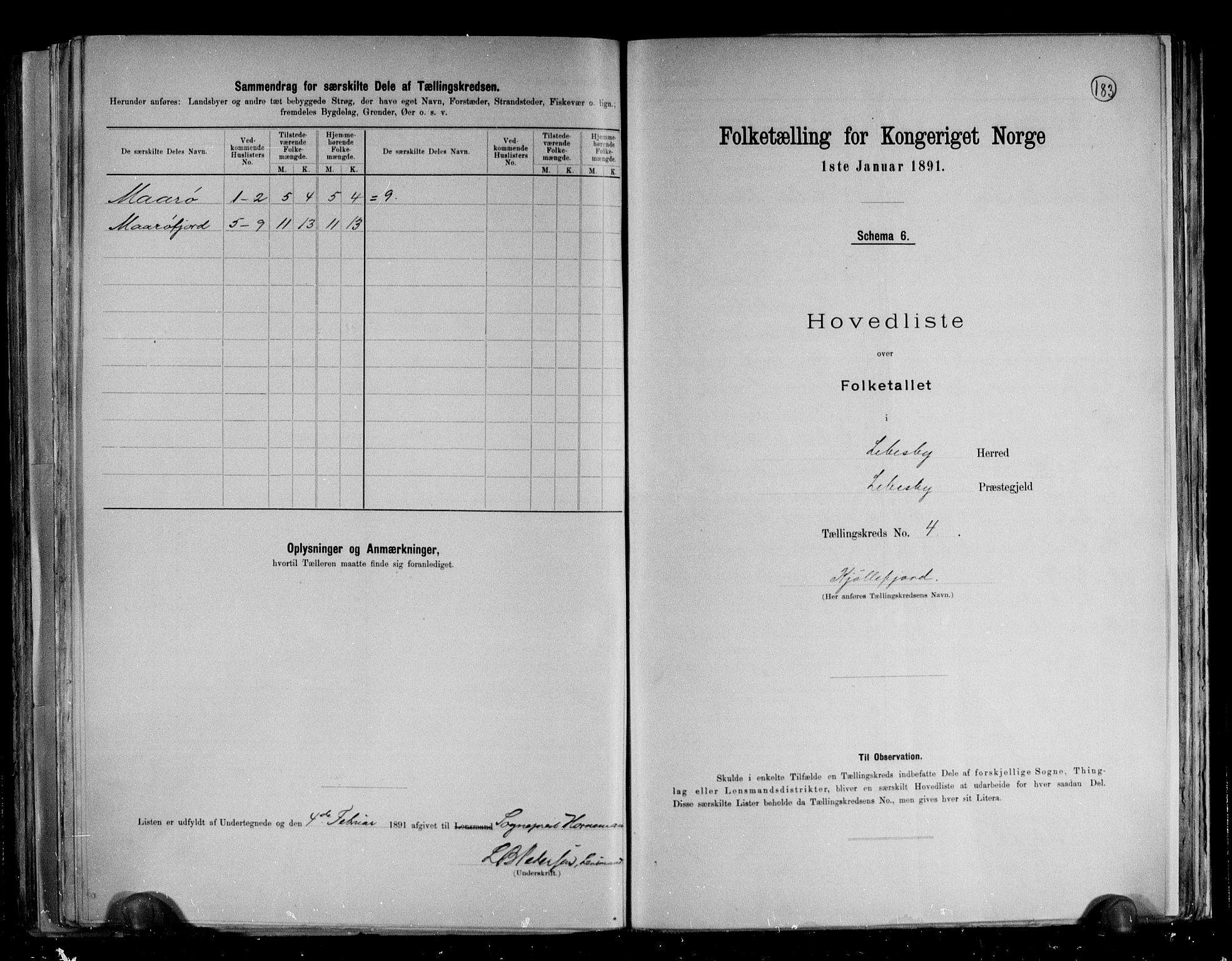 RA, Folketelling 1891 for 2022 Lebesby herred, 1891, s. 16