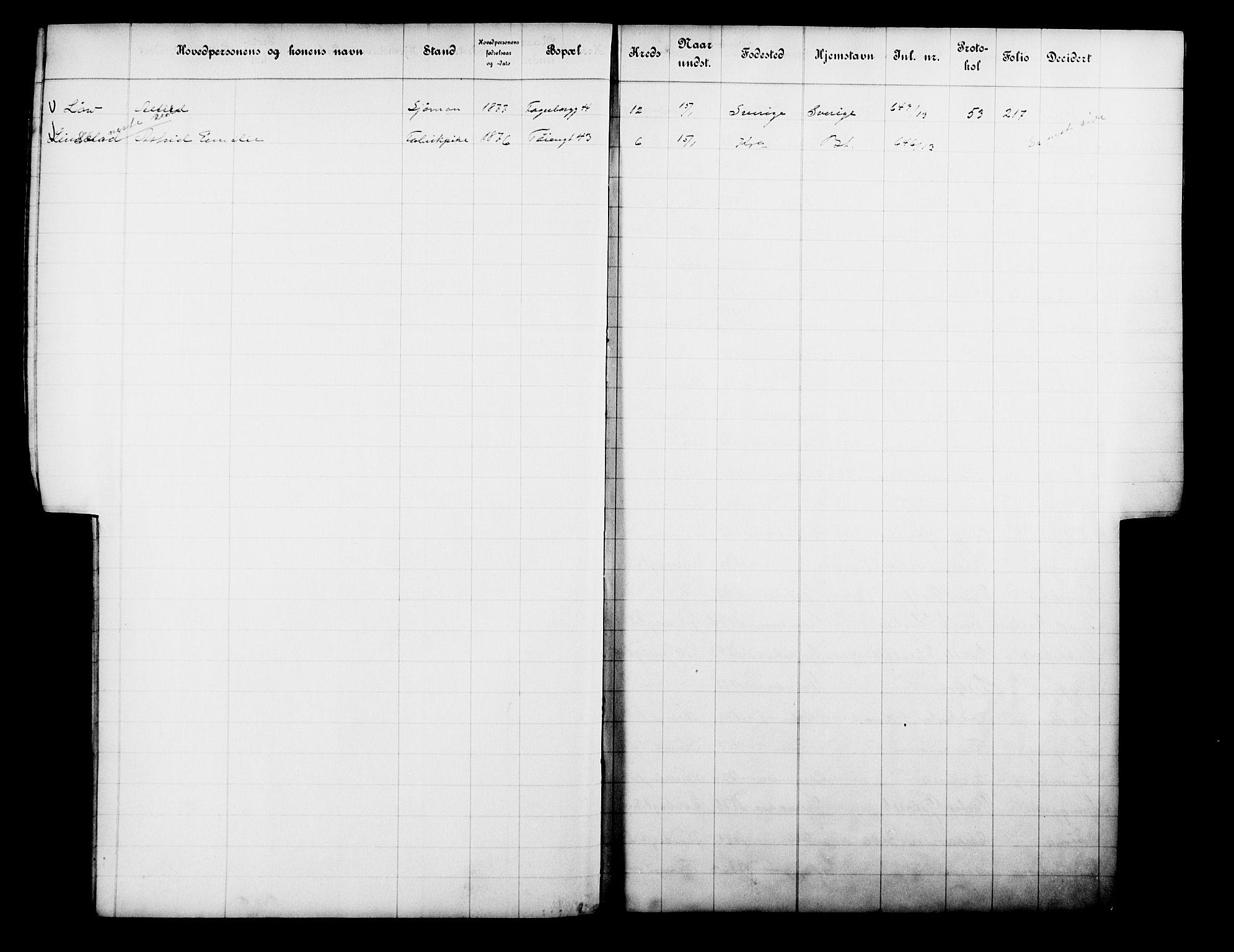 OBA, Fattigvesenet, Fb/L0032: Hjemstavnsregister, 1913, s. 140