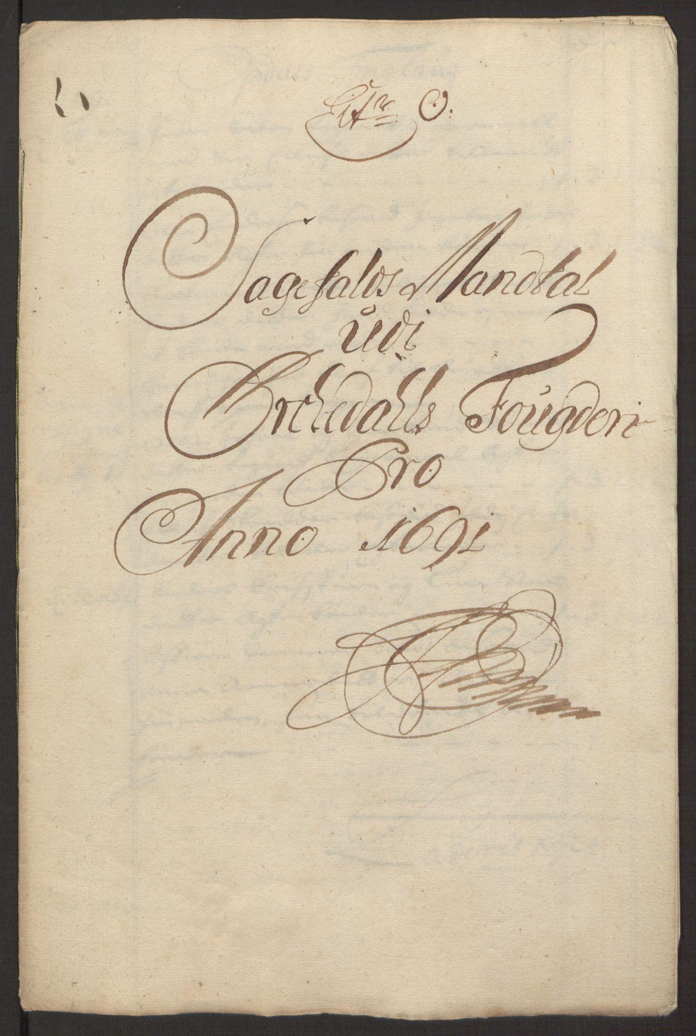 RA, Rentekammeret inntil 1814, Reviderte regnskaper, Fogderegnskap, R58/L3937: Fogderegnskap Orkdal, 1691-1692, s. 131