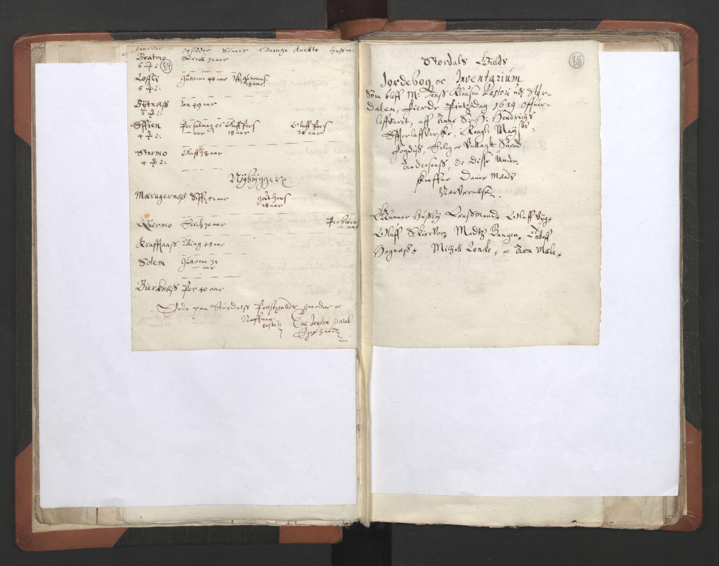 RA, Sogneprestenes manntall 1664-1666, nr. 32: Innherad prosti, 1664-1666, s. 84-85