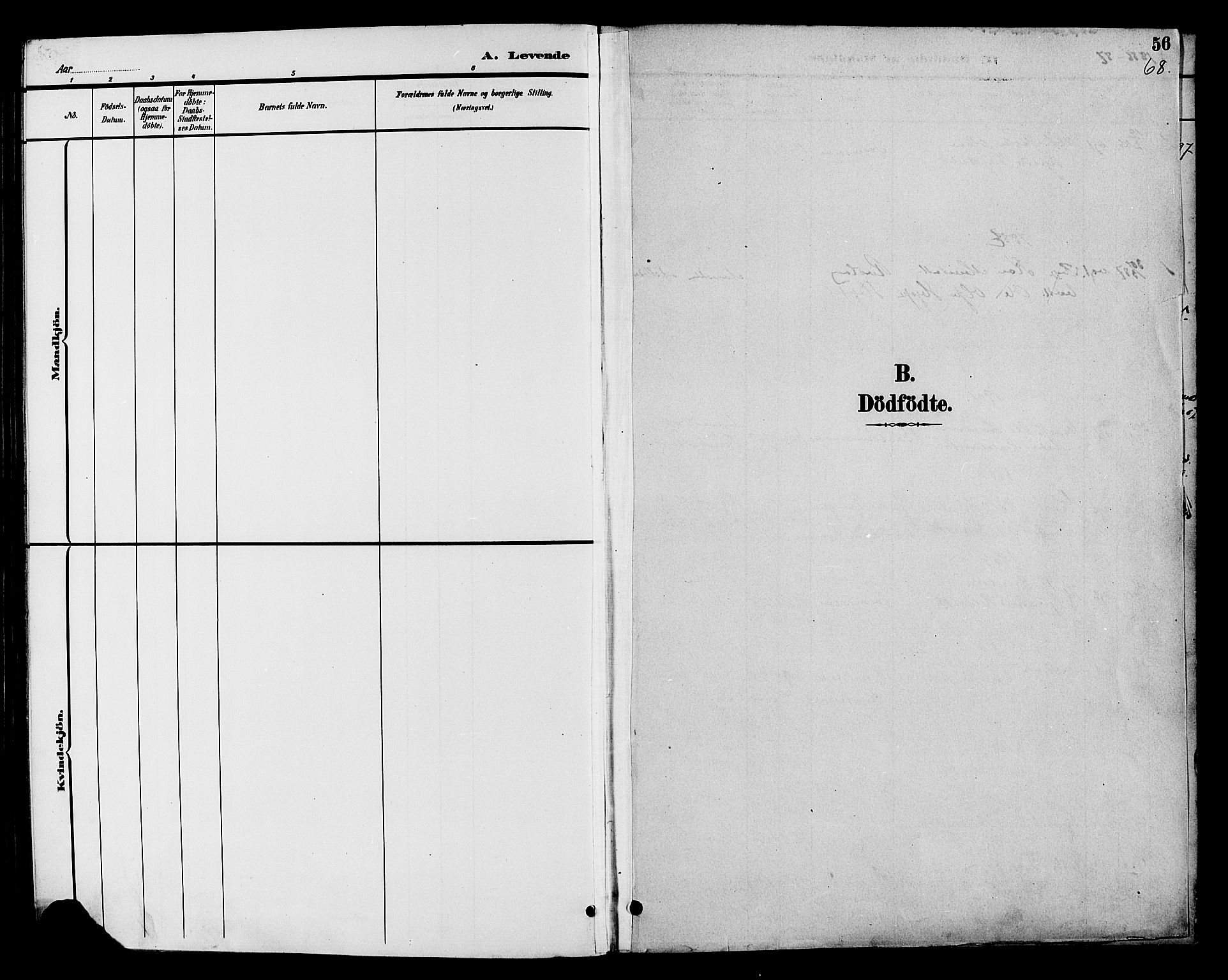 SAH, Nord-Aurdal prestekontor, Klokkerbok nr. 7, 1883-1910, s. 68
