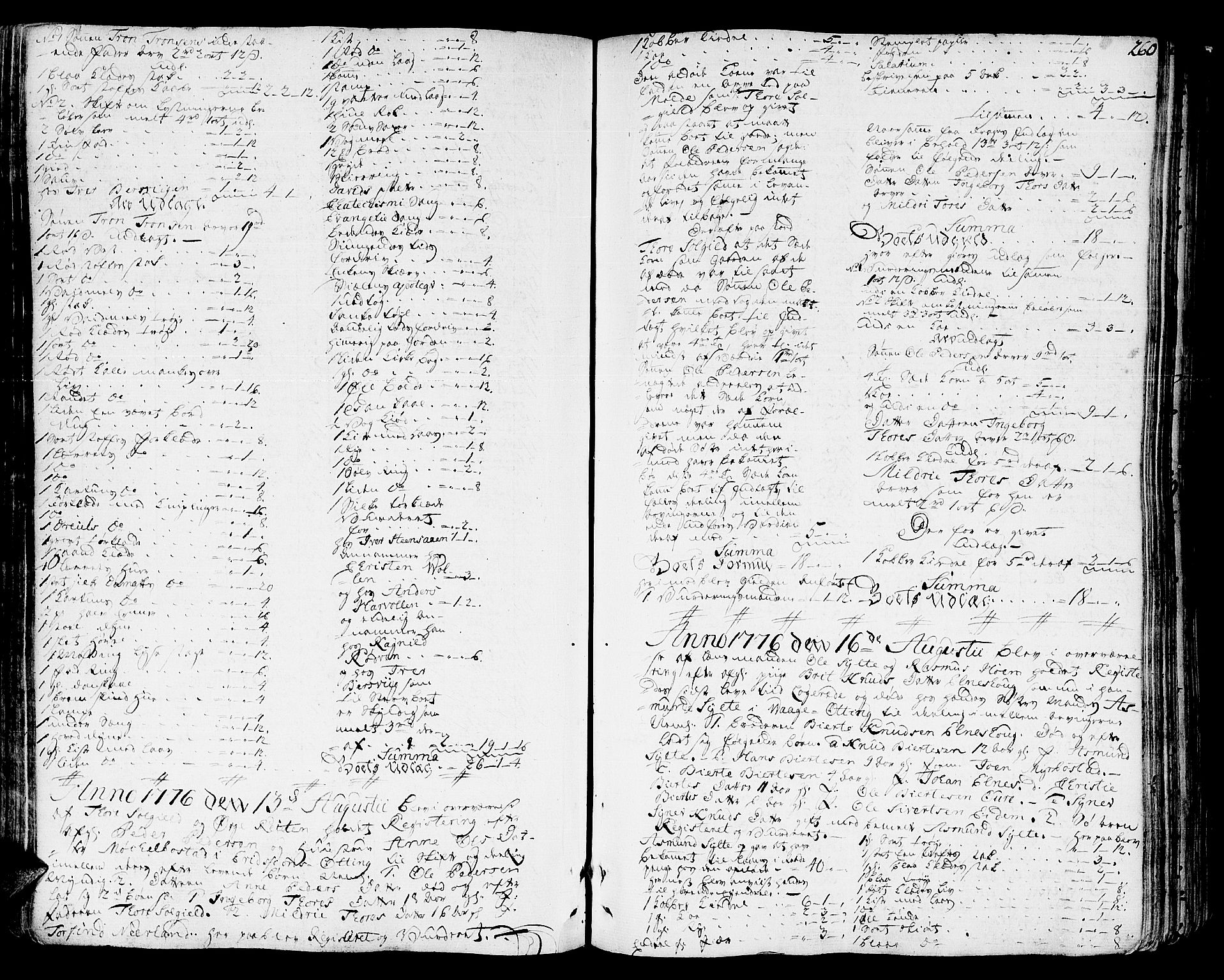 SAT, Romsdal sorenskriveri, 3/3A/L0010: Skifteprotokoll, 1774-1782, s. 259b-260a