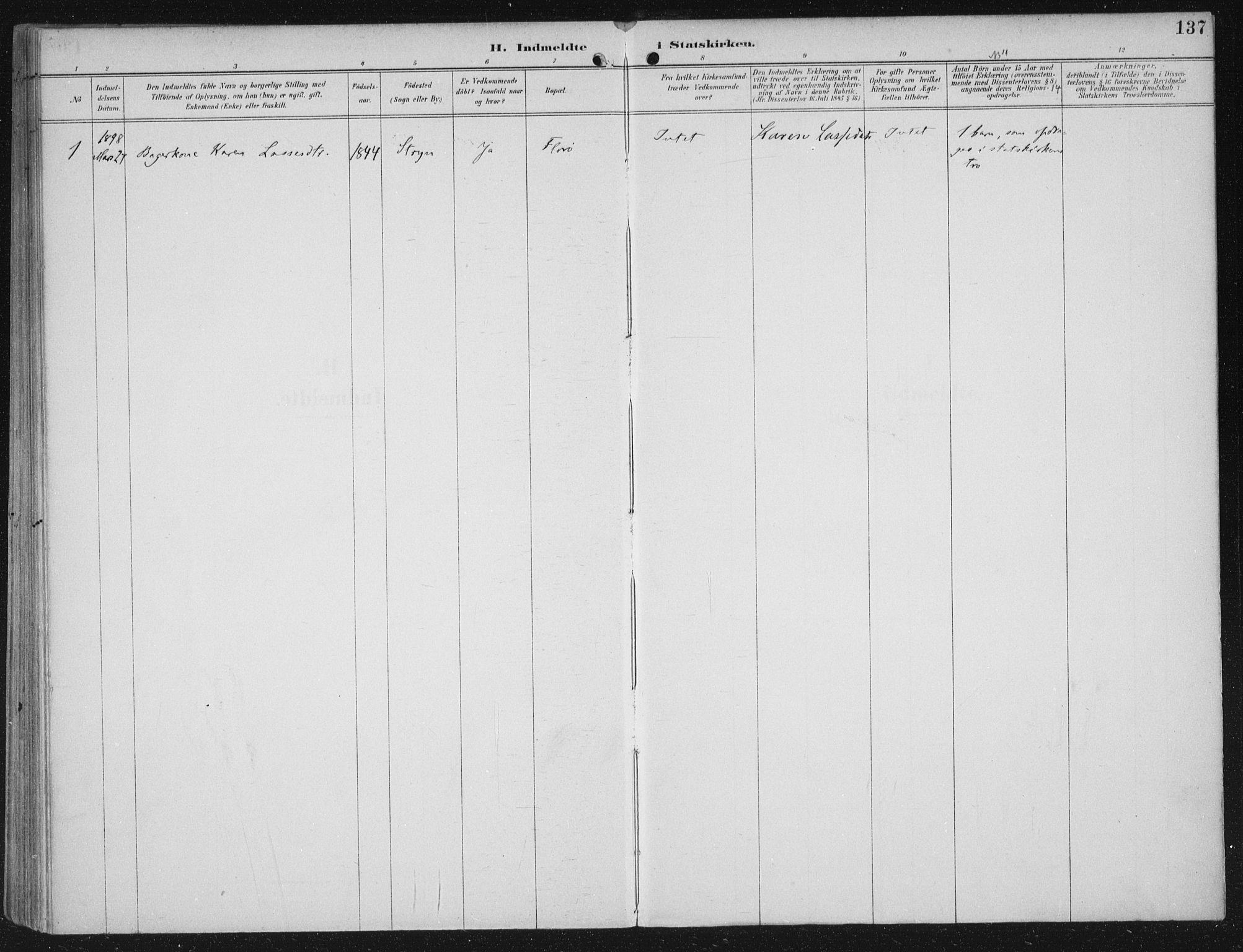 SAB, Kinn sokneprestembete, H/Haa/Haac/L0002: Ministerialbok nr. C  2, 1895-1916, s. 137
