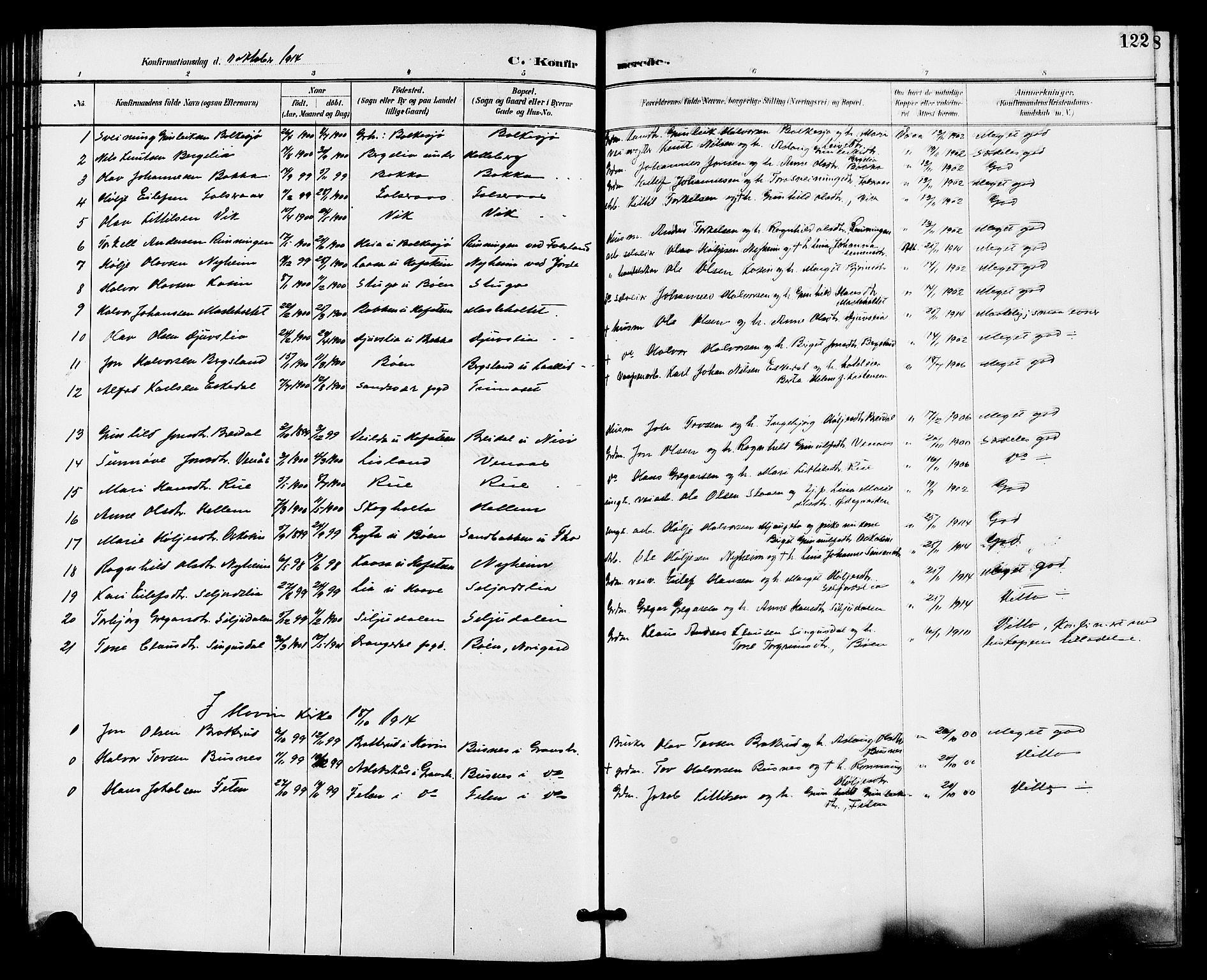 SAKO, Gransherad kirkebøker, G/Ga/L0003: Klokkerbok nr. I 3, 1887-1915, s. 122