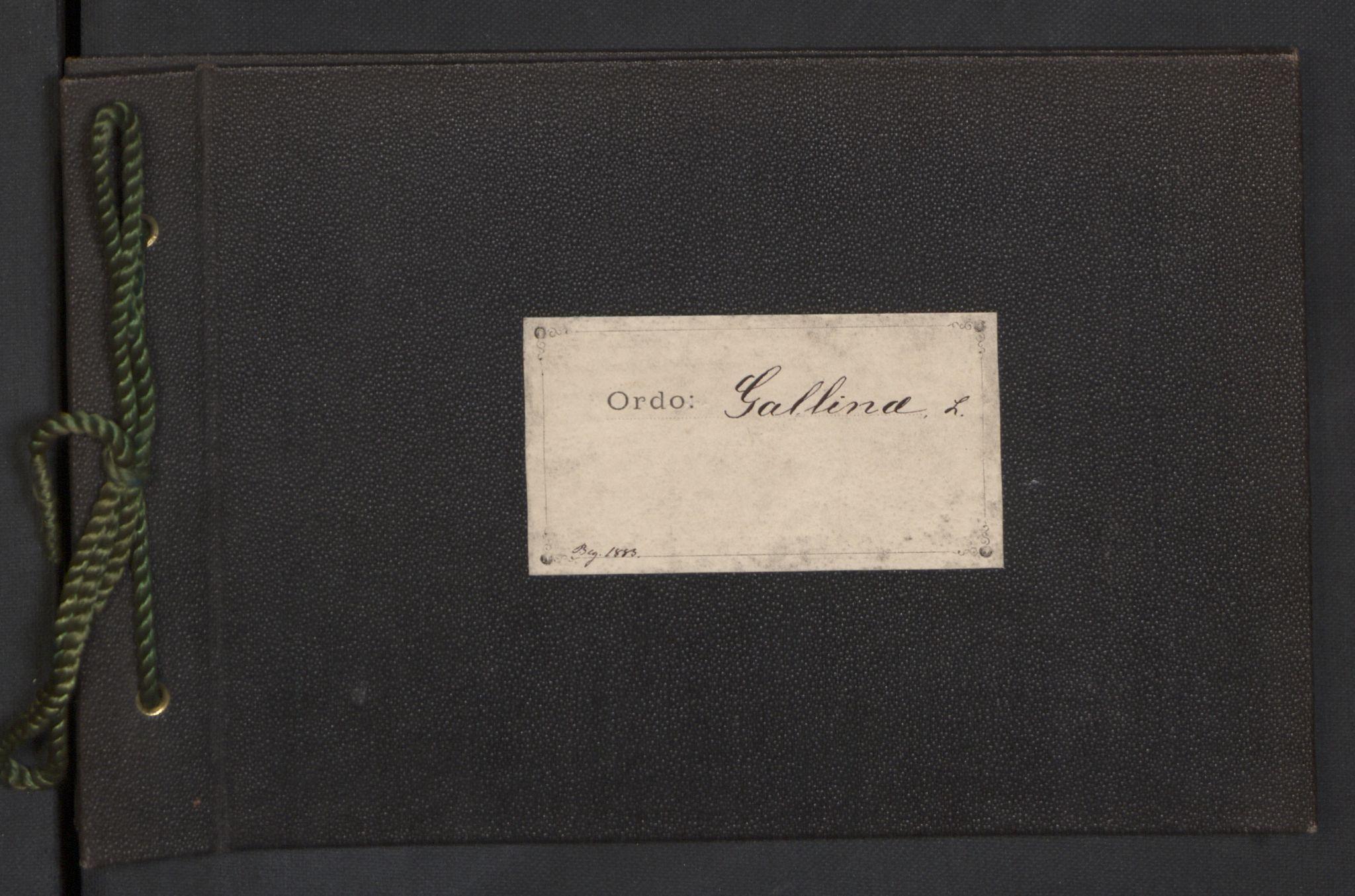 NHMO, Naturhistorisk museum (Oslo), 2: Fugl. Taksonomisk journal. Ordo: Gallina