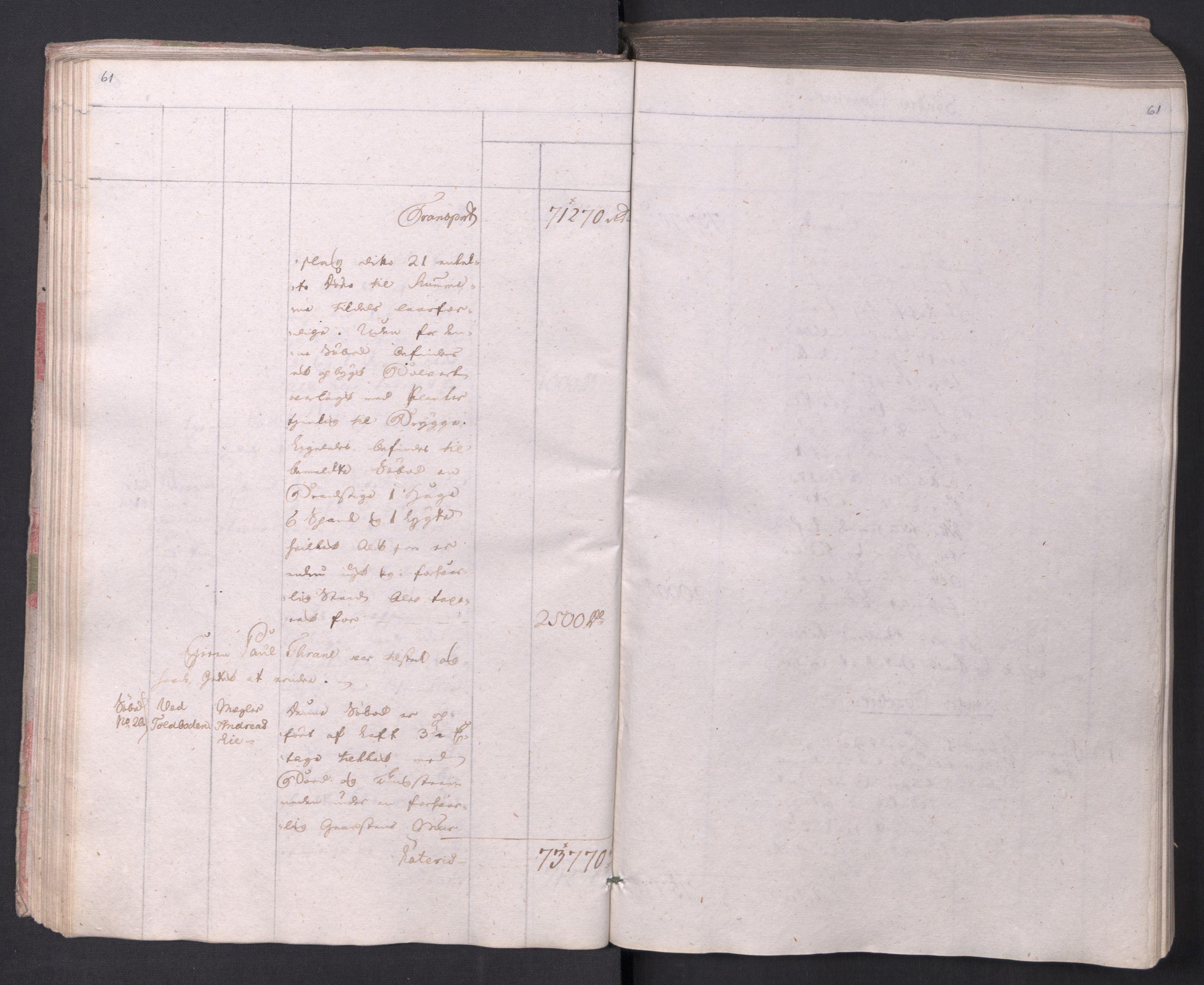 SAO, Kristiania stiftamt, I/Ia/L0015: Branntakster, 1797, s. 61