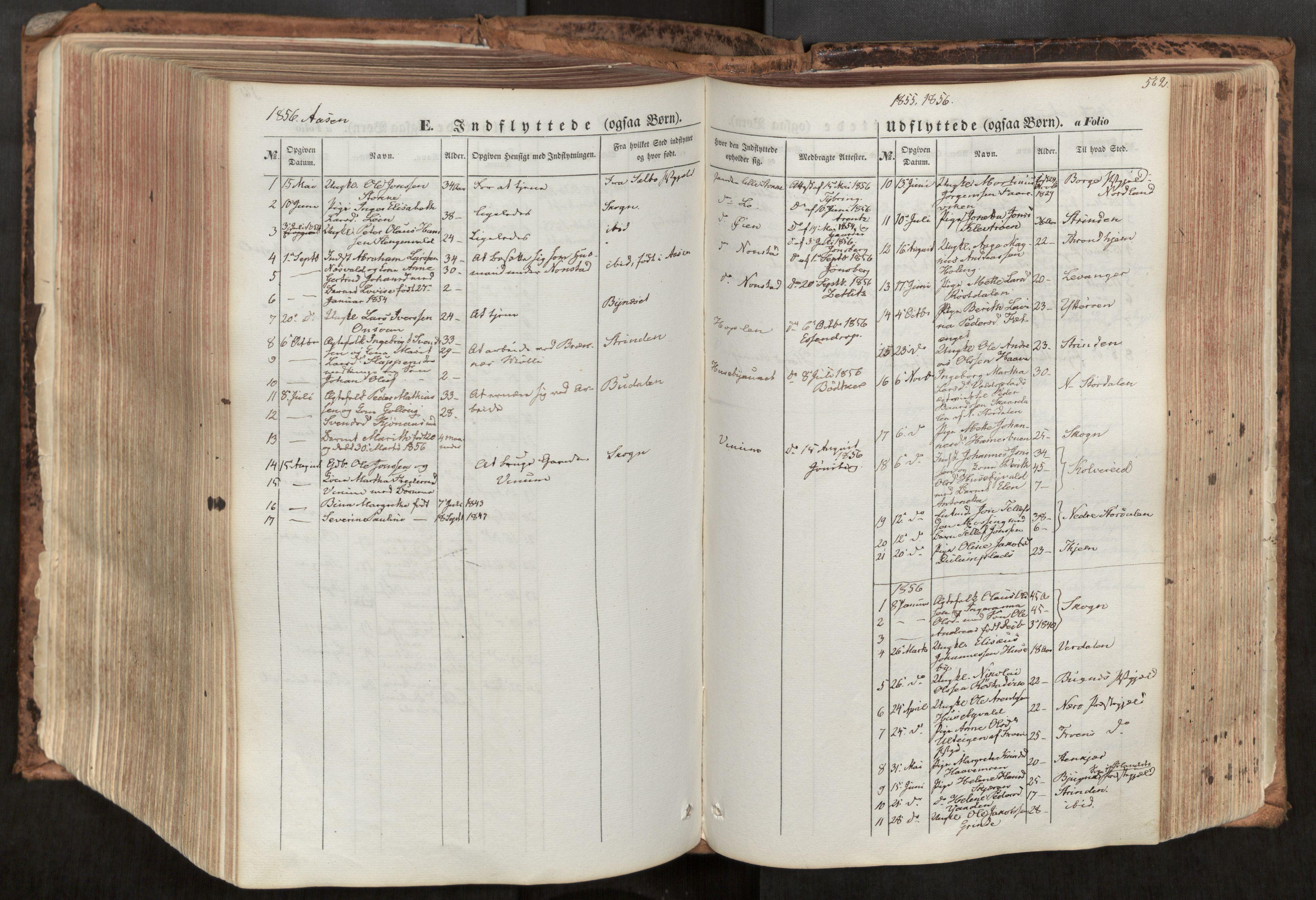 SAT, Ministerialprotokoller, klokkerbøker og fødselsregistre - Nord-Trøndelag, 713/L0116: Ministerialbok nr. 713A07, 1850-1877, s. 562