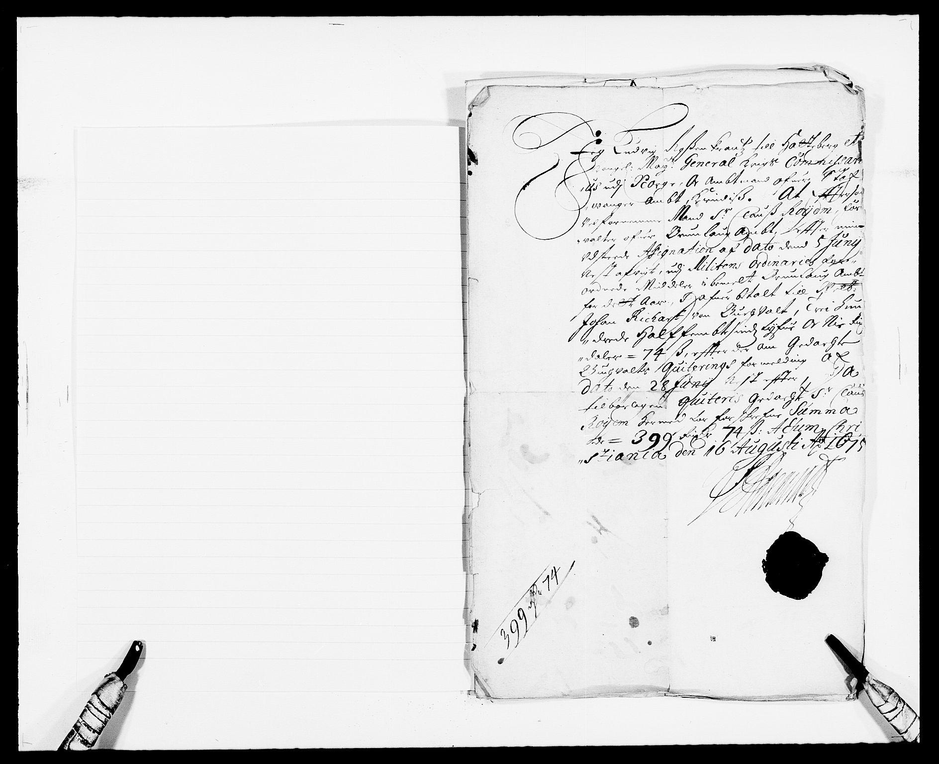 RA, Rentekammeret inntil 1814, Reviderte regnskaper, Fogderegnskap, R33/L1967: Fogderegnskap Larvik grevskap, 1675-1687, s. 239