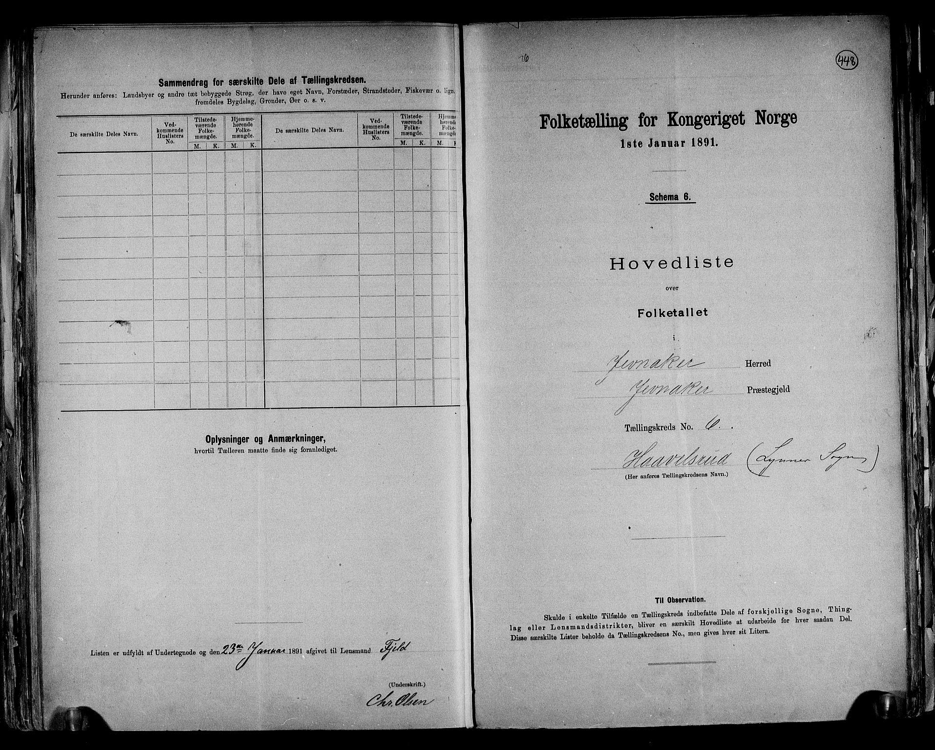 RA, Folketelling 1891 for 0532 Jevnaker herred, 1891, s. 18