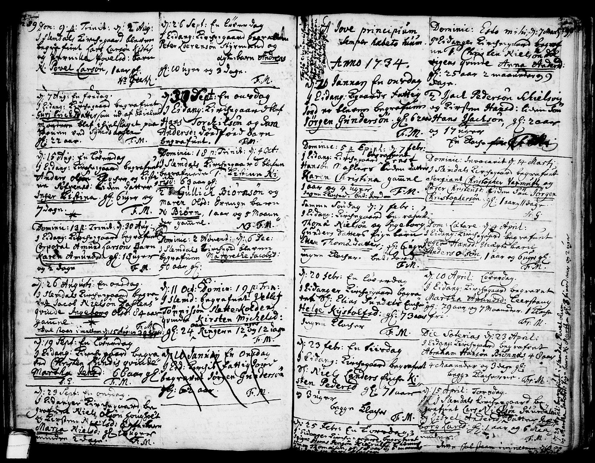 SAKO, Eidanger kirkebøker, F/Fa/L0004: Ministerialbok nr. 4, 1733-1759, s. 289-290