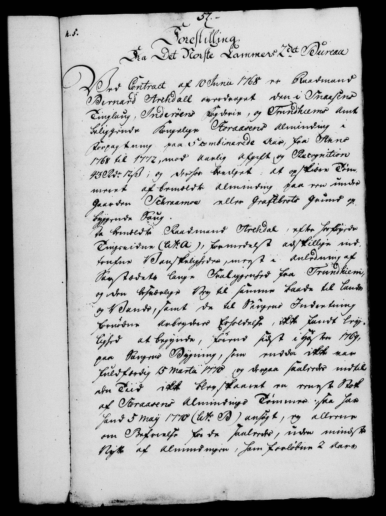RA, Rentekammeret, Kammerkanselliet, G/Gf/Gfa/L0054: Norsk relasjons- og resolusjonsprotokoll (merket RK 52.54), 1771-1772, s. 467