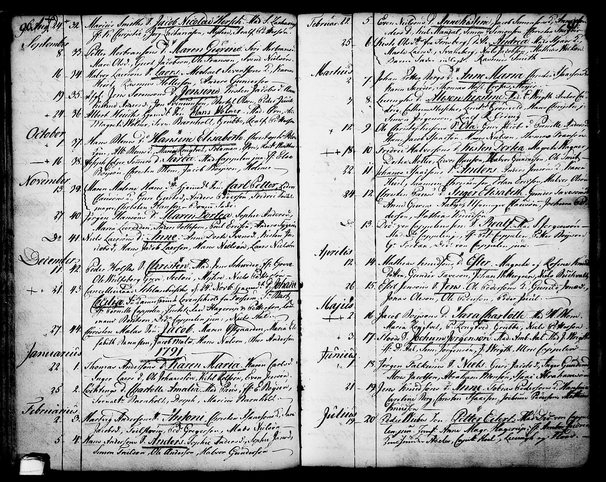 SAKO, Skien kirkebøker, F/Fa/L0003: Ministerialbok nr. 3, 1755-1791, s. 96-97