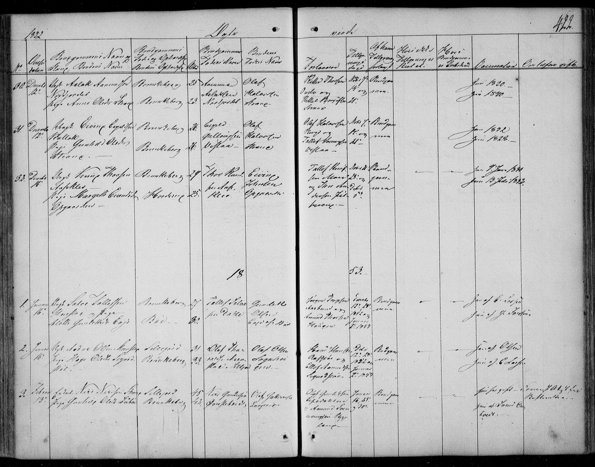 SAKO, Kviteseid kirkebøker, F/Fa/L0006: Ministerialbok nr. I 6, 1836-1858, s. 422