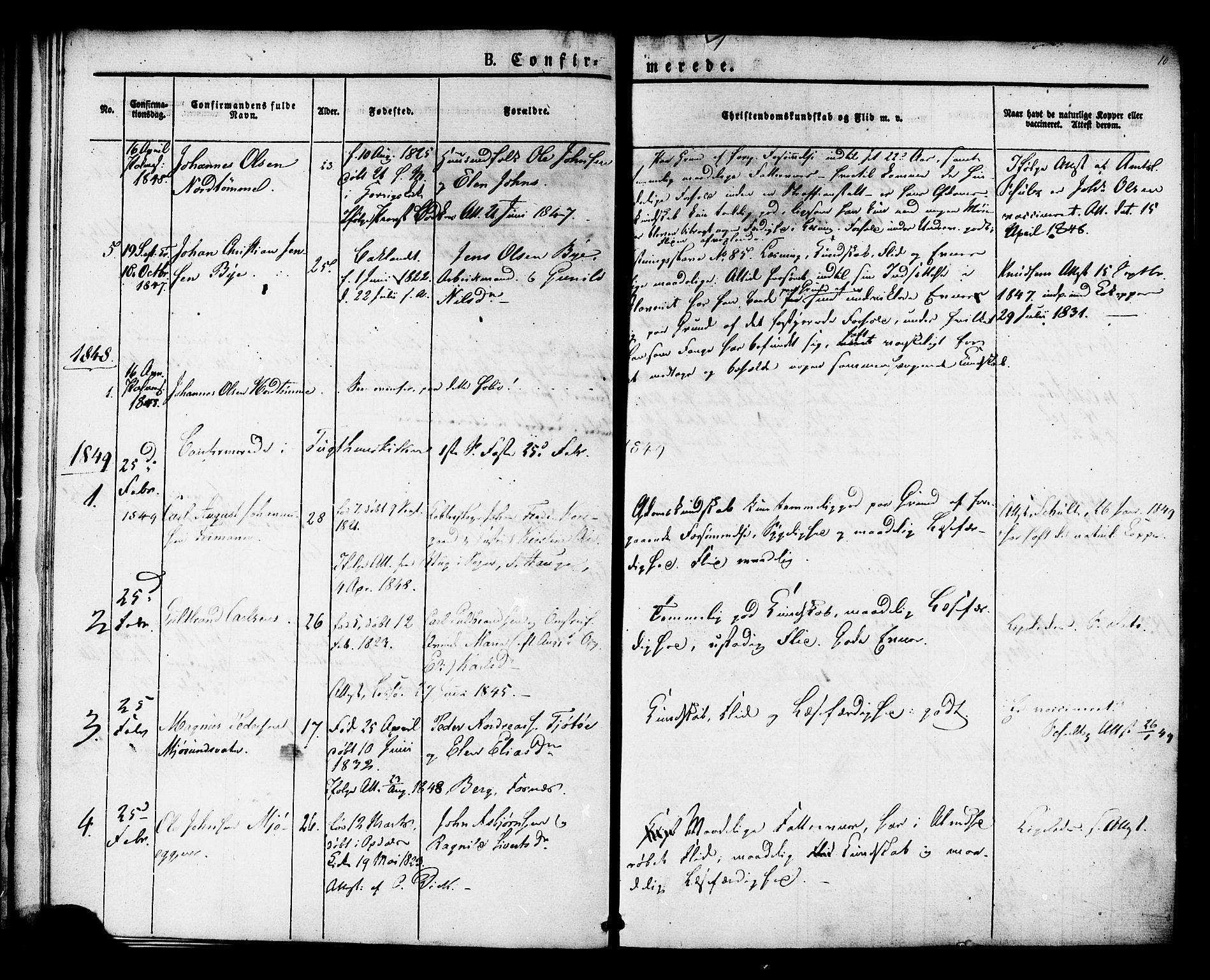 SAT, Ministerialprotokoller, klokkerbøker og fødselsregistre - Sør-Trøndelag, 624/L0480: Ministerialbok nr. 624A01, 1841-1864, s. 10