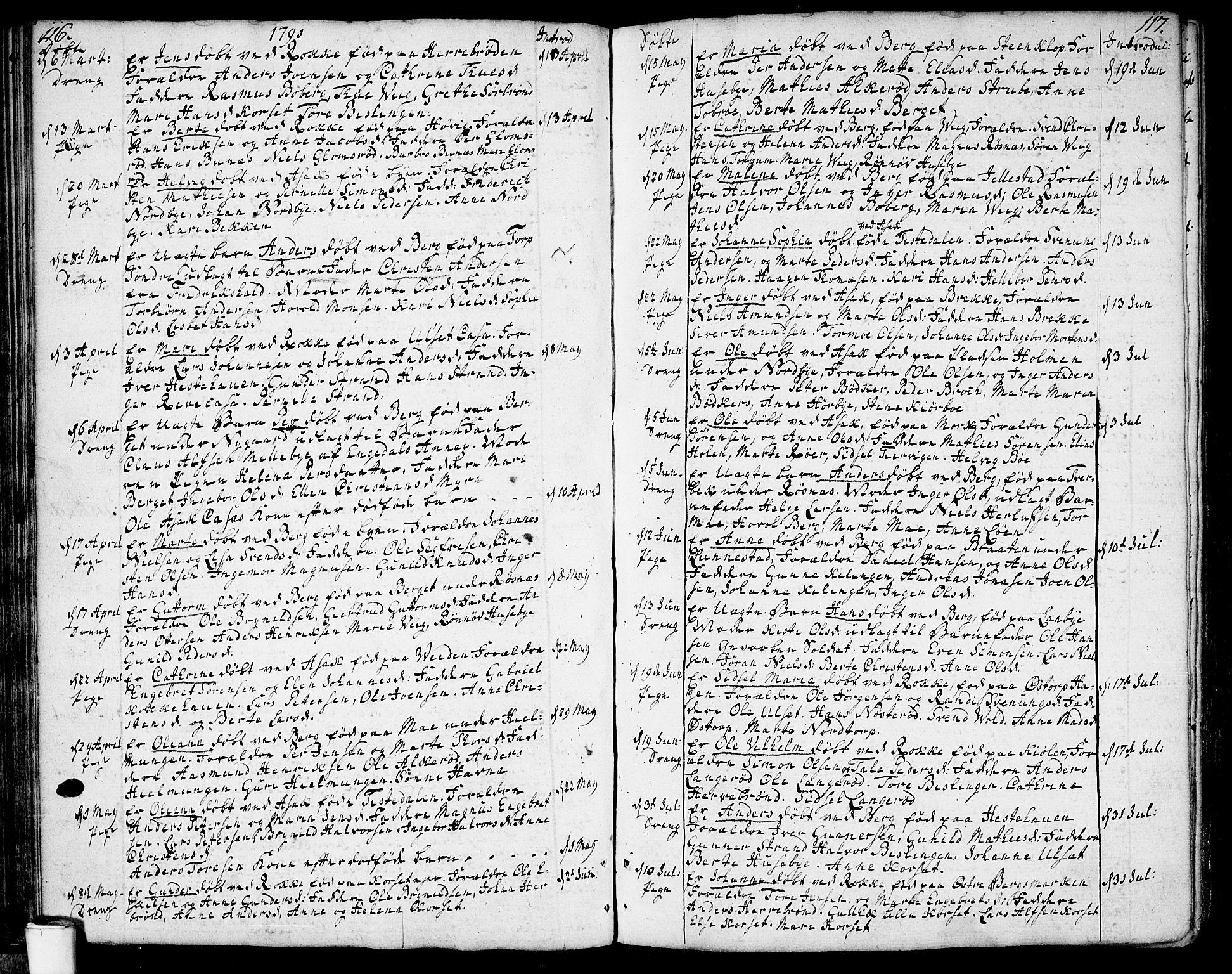 SAO, Berg prestekontor Kirkebøker, F/Fa/L0001: Ministerialbok nr. I 1, 1770-1814, s. 116-117