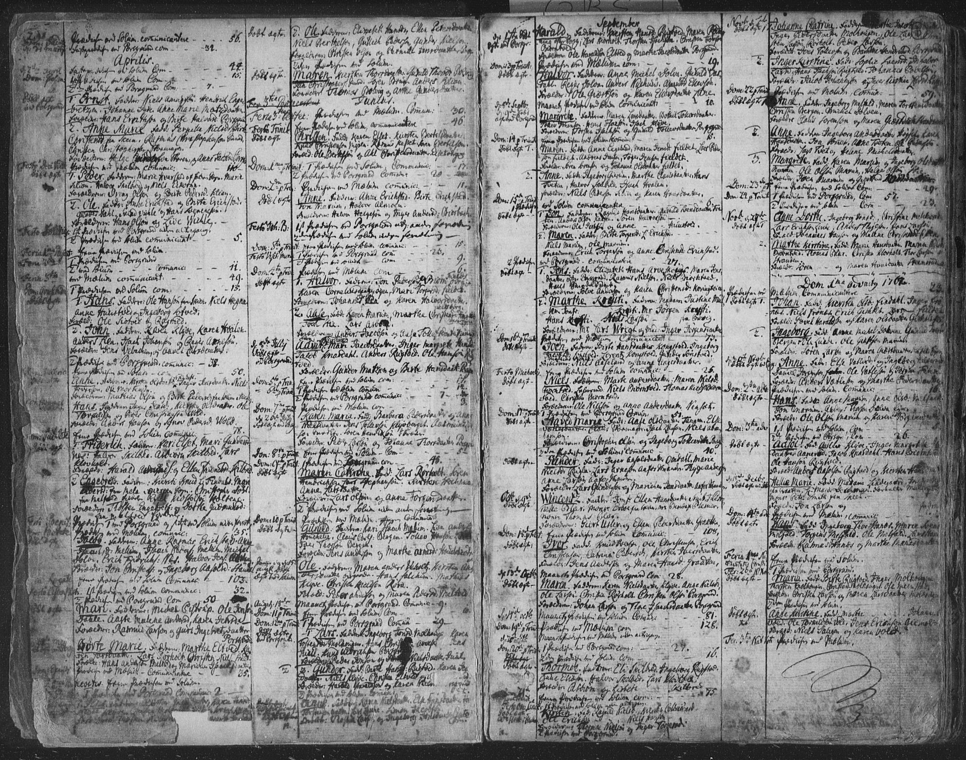 SAKO, Solum kirkebøker, F/Fa/L0003: Ministerialbok nr. I 3, 1761-1814, s. 2-3