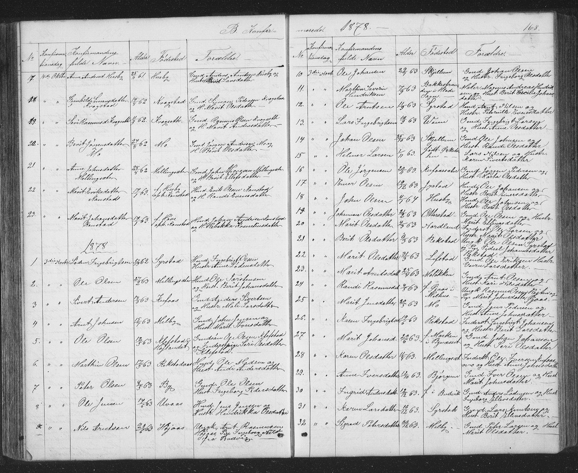 SAT, Ministerialprotokoller, klokkerbøker og fødselsregistre - Sør-Trøndelag, 667/L0798: Klokkerbok nr. 667C03, 1867-1929, s. 168