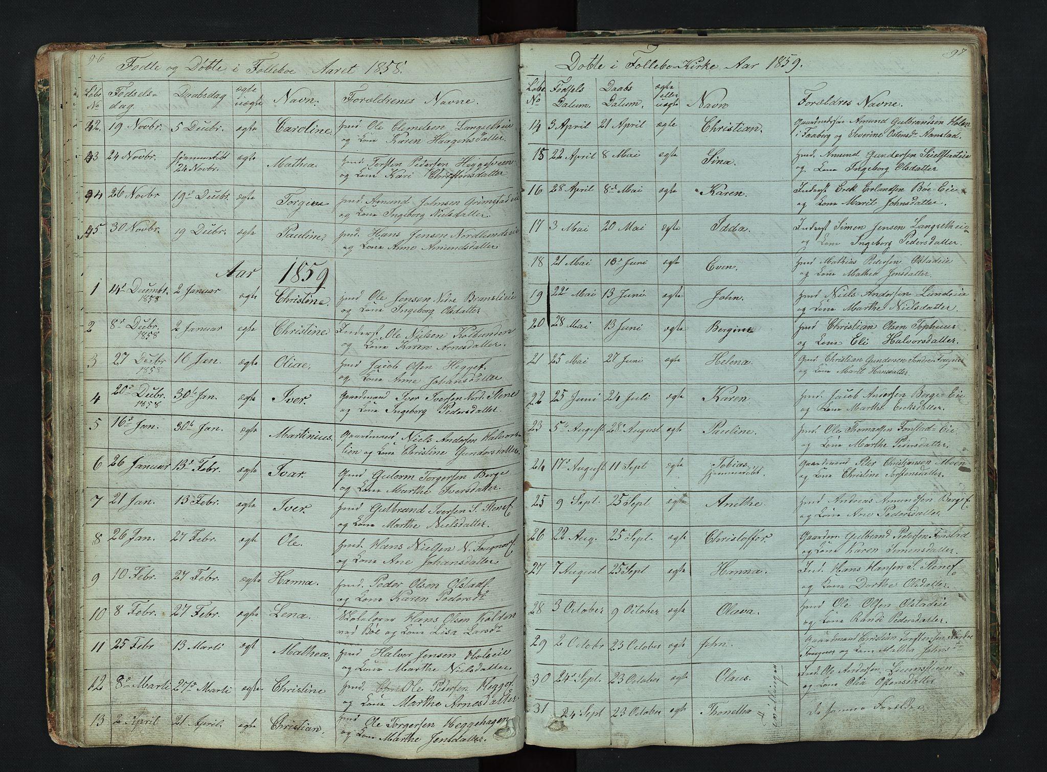 SAH, Gausdal prestekontor, Klokkerbok nr. 6, 1846-1893, s. 96-97