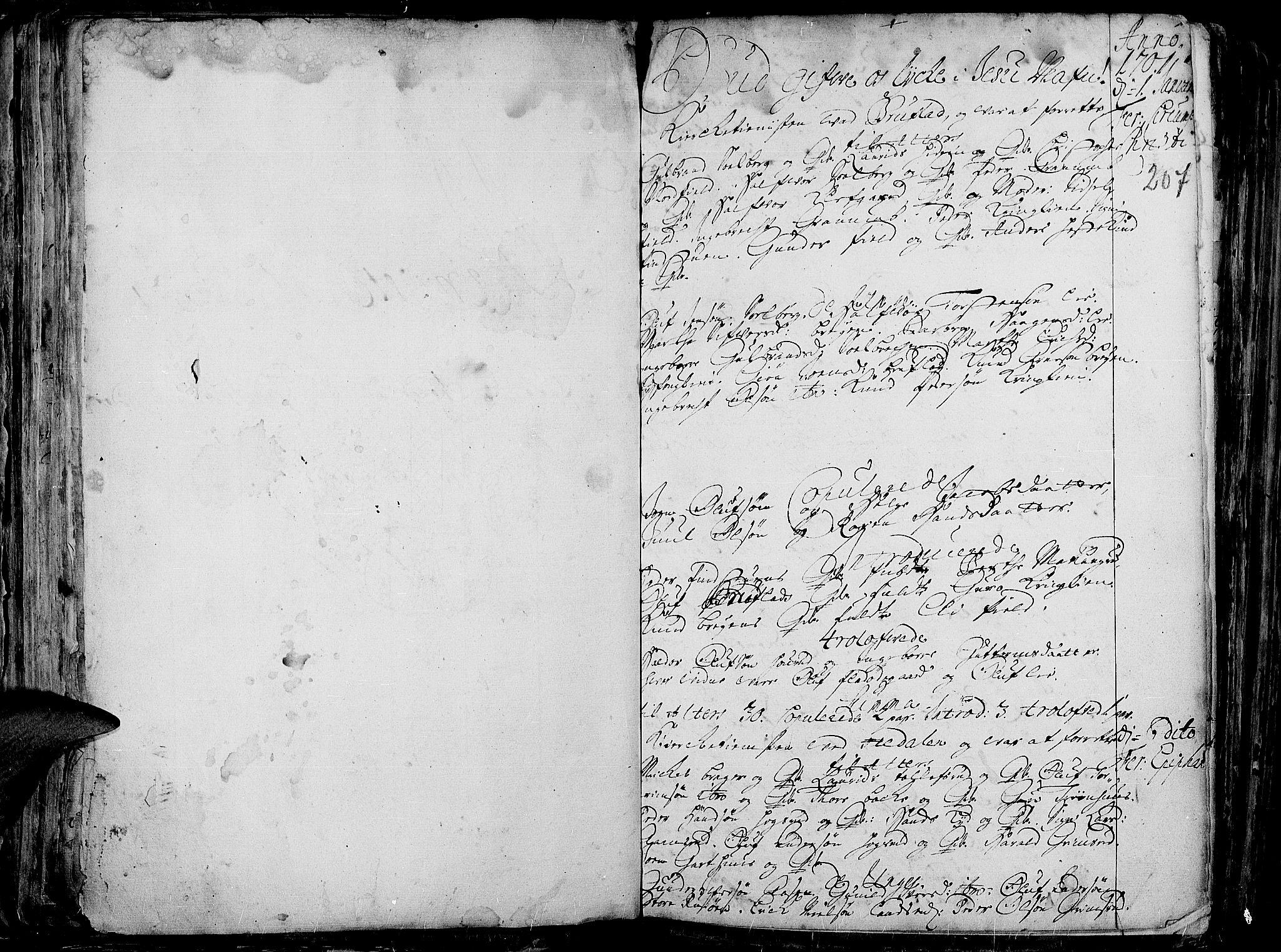 SAH, Aurdal prestekontor, Ministerialbok nr. 1-3, 1692-1730, s. 207