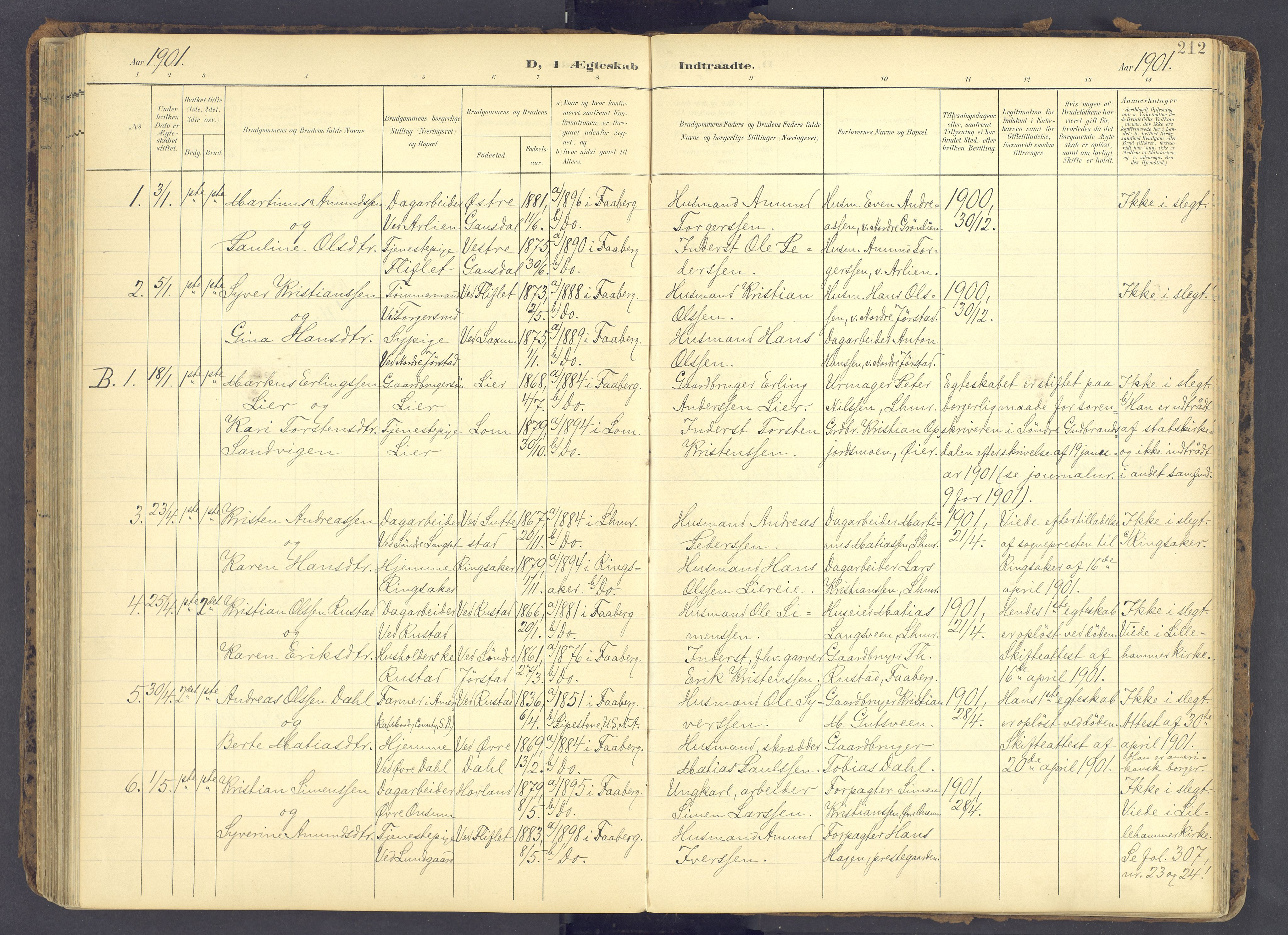 SAH, Fåberg prestekontor, Ministerialbok nr. 12, 1899-1915, s. 212