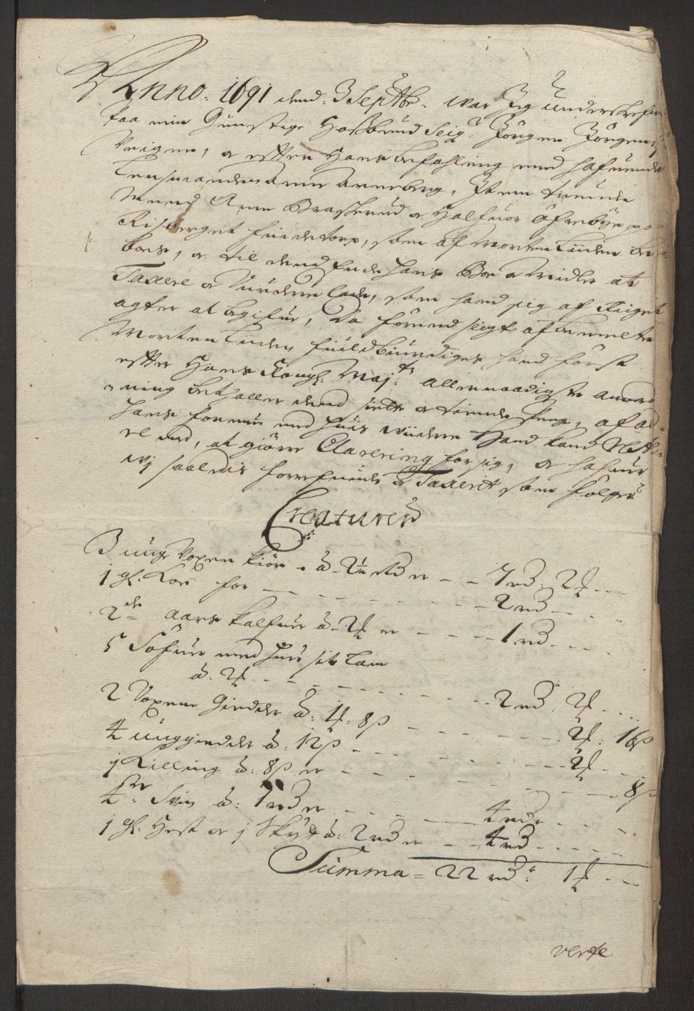 RA, Rentekammeret inntil 1814, Reviderte regnskaper, Fogderegnskap, R13/L0830: Fogderegnskap Solør, Odal og Østerdal, 1692, s. 188
