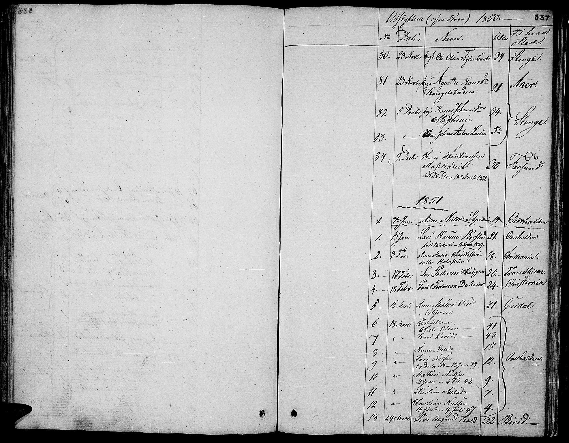 SAH, Vardal prestekontor, H/Ha/Hab/L0004: Klokkerbok nr. 4, 1831-1853, s. 337