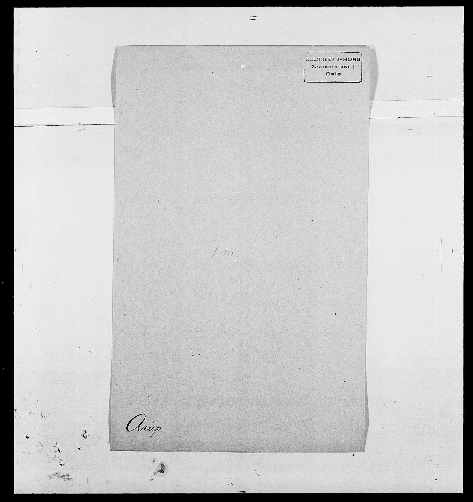 SAO, Delgobe, Charles Antoine - samling, D/Da/L0002: Anker, Ancher - Bauner, s. 375