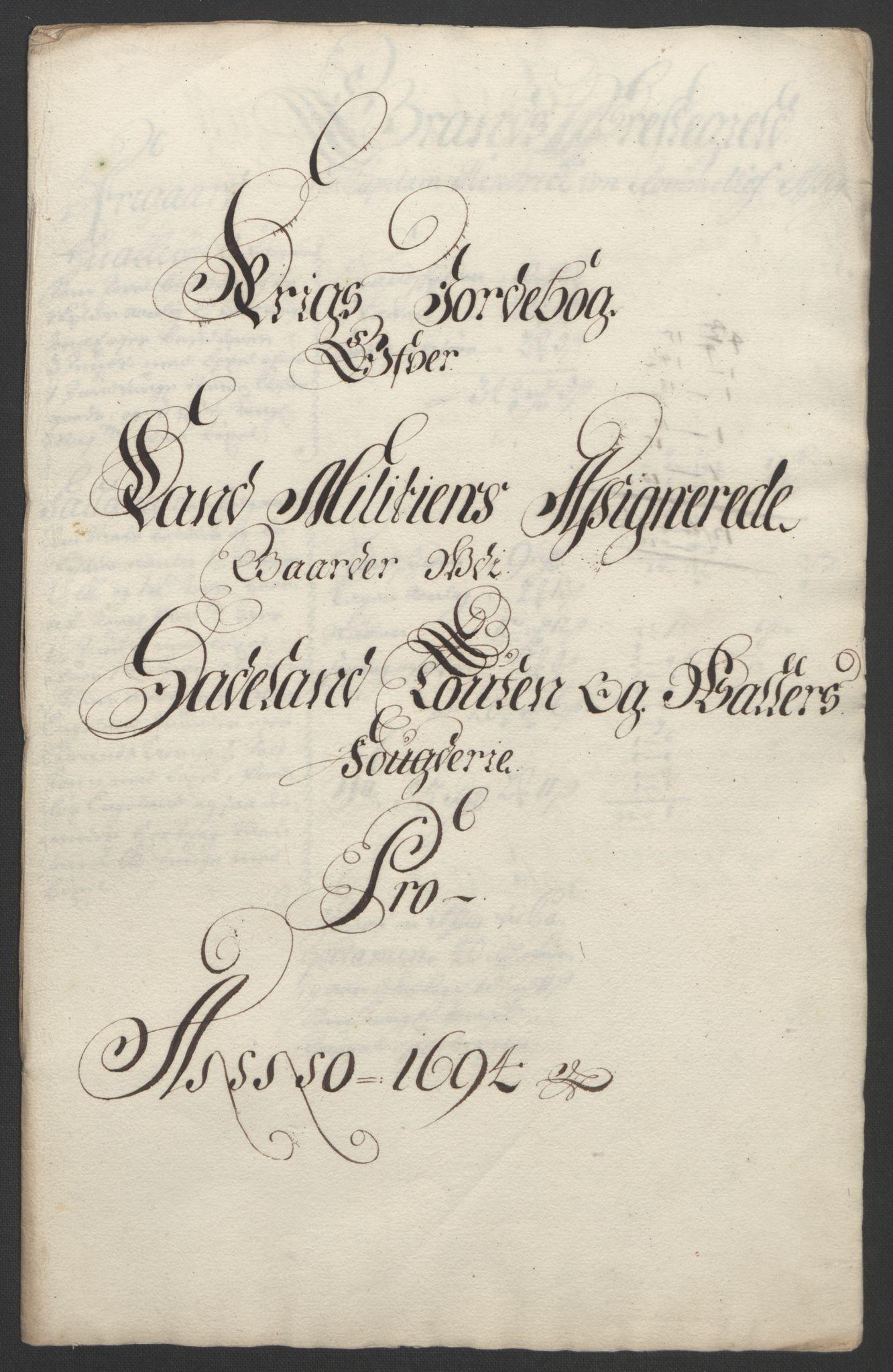 RA, Rentekammeret inntil 1814, Reviderte regnskaper, Fogderegnskap, R18/L1292: Fogderegnskap Hadeland, Toten og Valdres, 1693-1694, s. 420