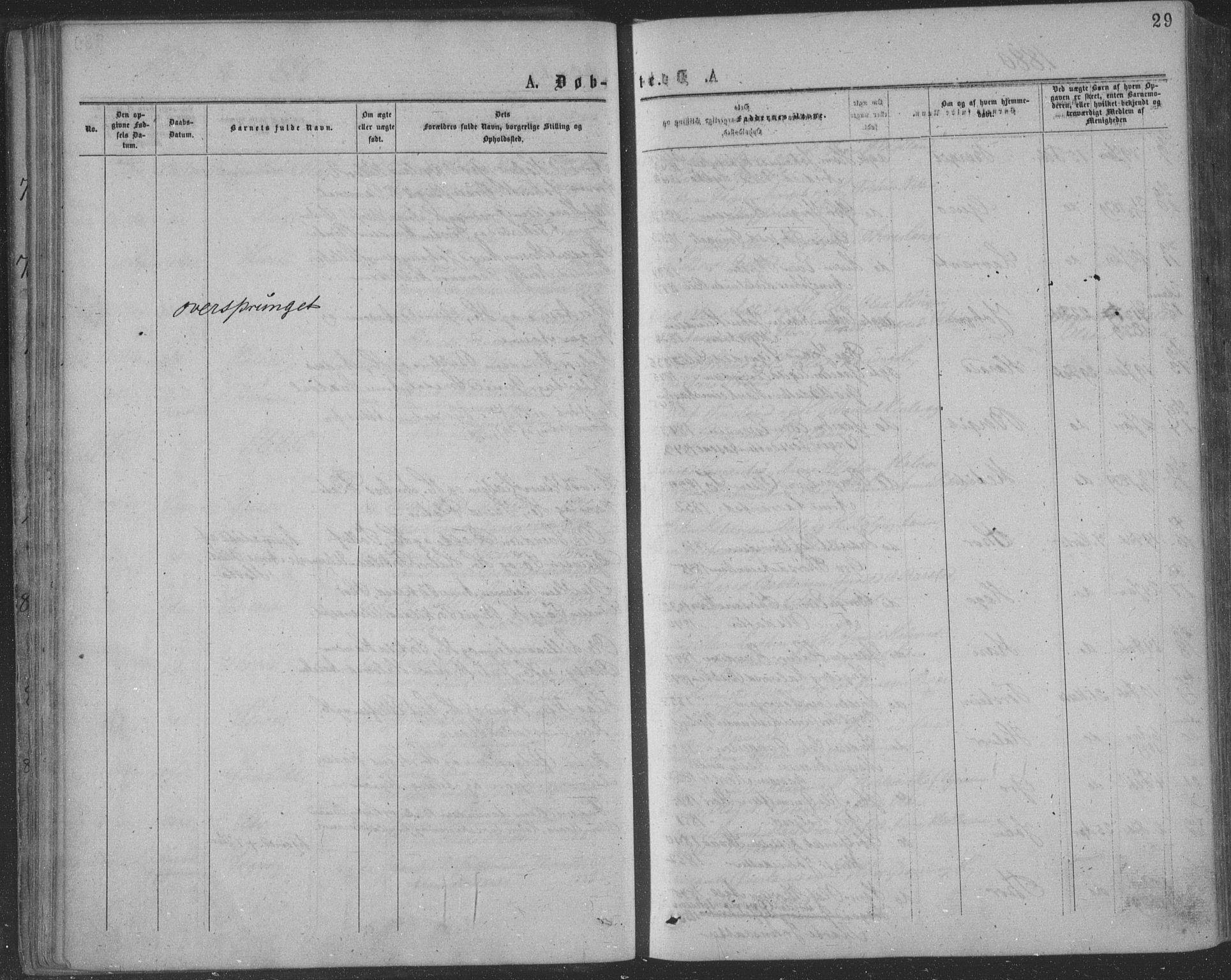 SAKO, Seljord kirkebøker, F/Fa/L0014: Ministerialbok nr. I 14, 1877-1886, s. 29