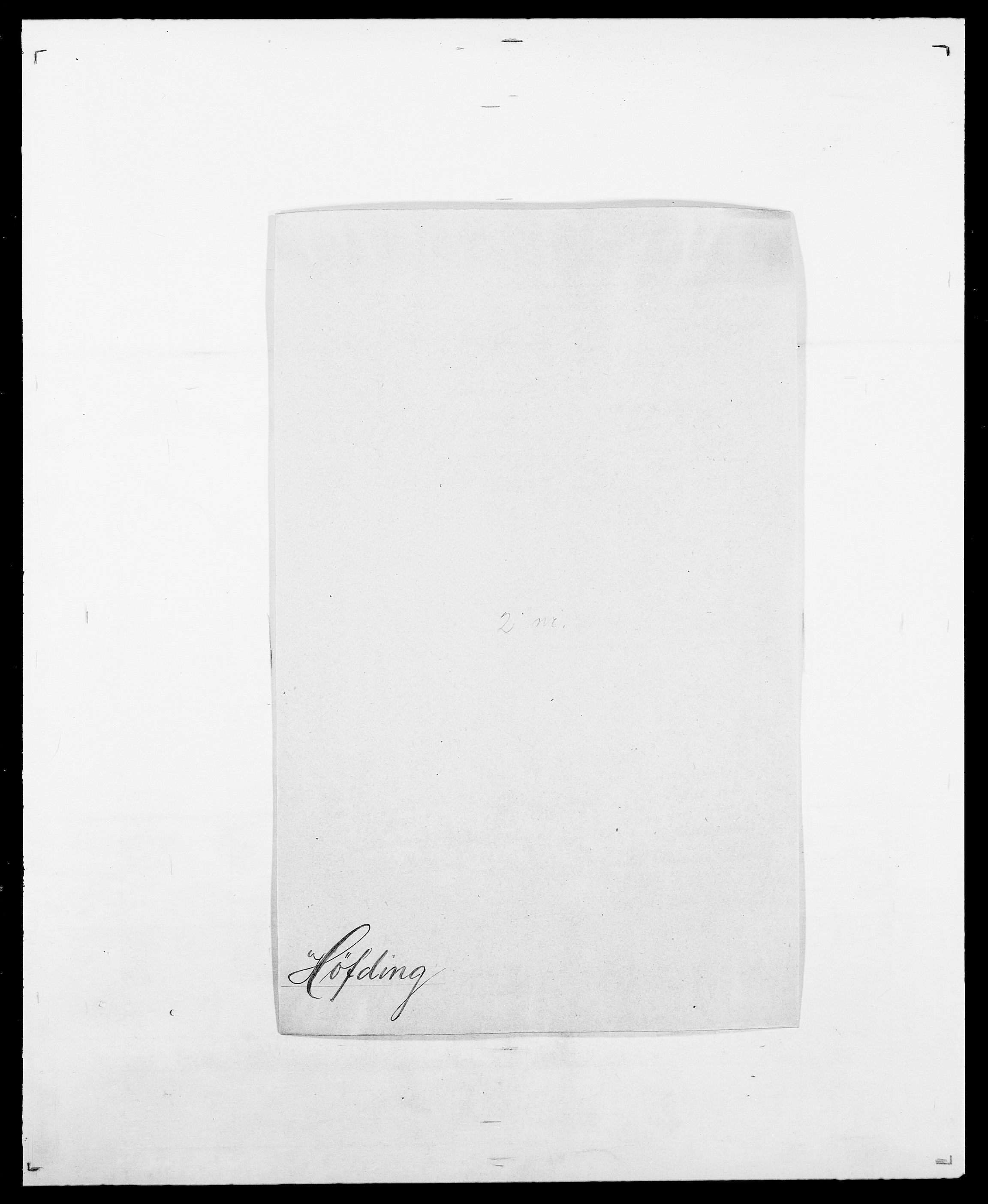 SAO, Delgobe, Charles Antoine - samling, D/Da/L0019: van der Hude - Joys, s. 344