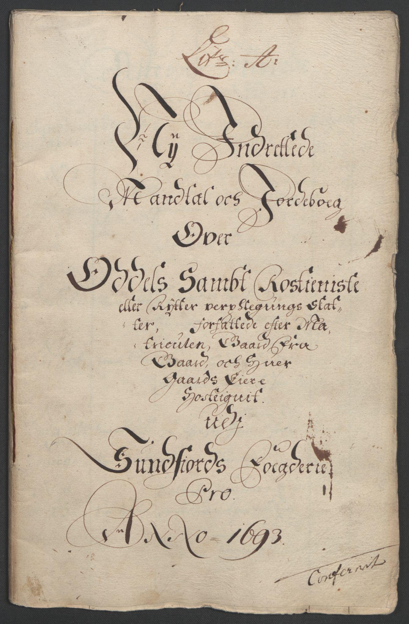 RA, Rentekammeret inntil 1814, Reviderte regnskaper, Fogderegnskap, R53/L3421: Fogderegnskap Sunn- og Nordfjord, 1693-1694, s. 12