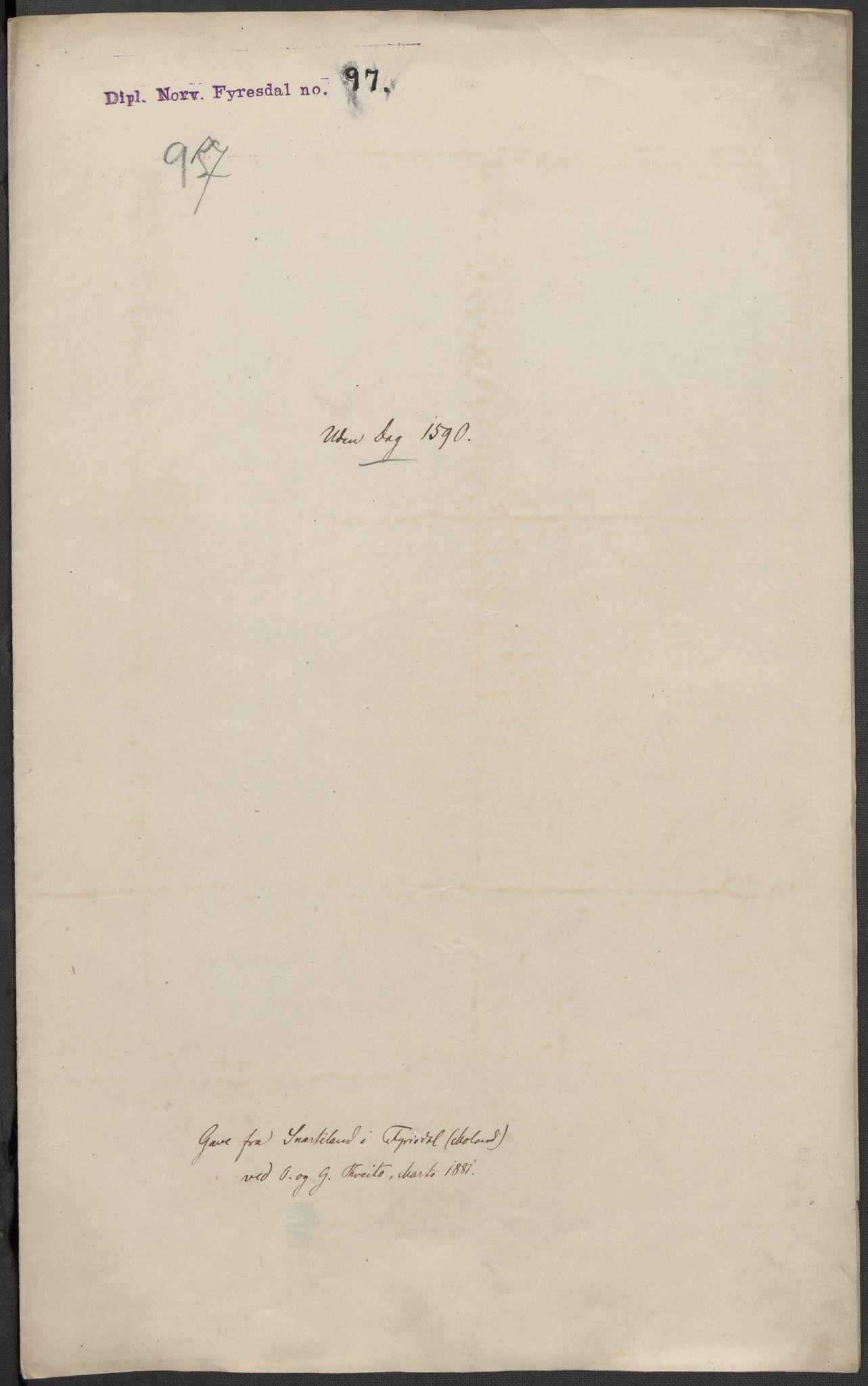 RA, Riksarkivets diplomsamling, F02/L0092: Dokumenter, 1590, s. 42
