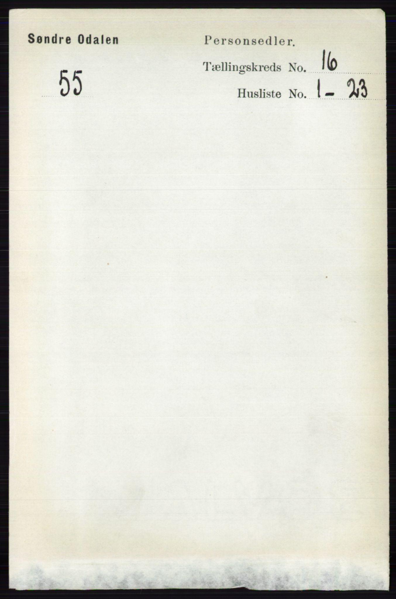 RA, Folketelling 1891 for 0419 Sør-Odal herred, 1891, s. 7269