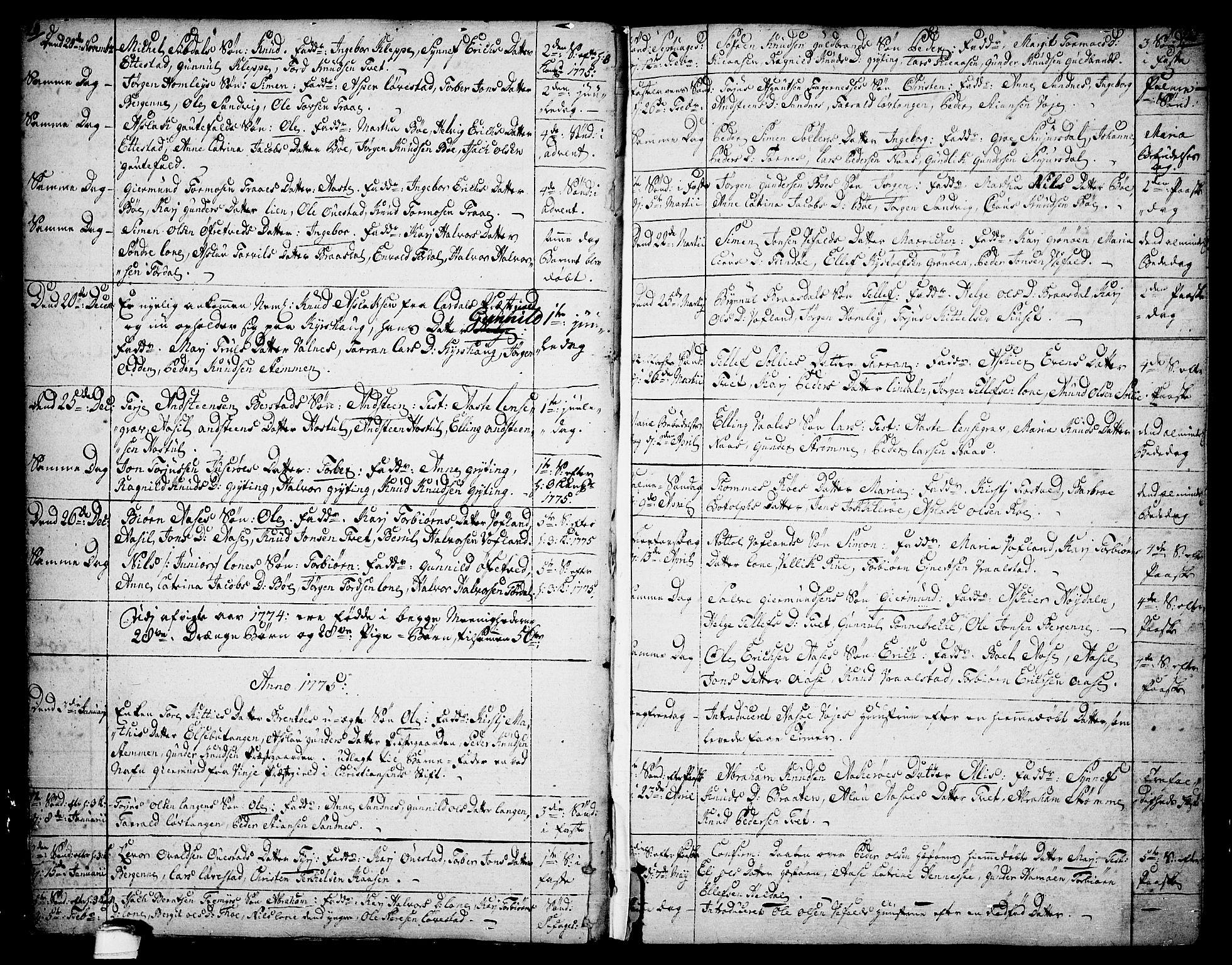 SAKO, Drangedal kirkebøker, F/Fa/L0003: Ministerialbok nr. 3, 1768-1814, s. 20-21