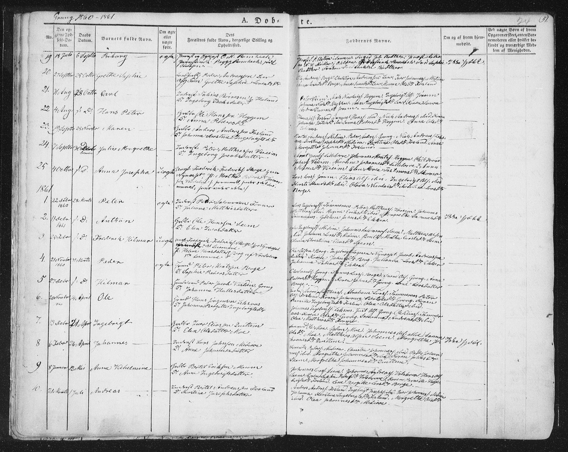 SAT, Ministerialprotokoller, klokkerbøker og fødselsregistre - Nord-Trøndelag, 758/L0513: Ministerialbok nr. 758A02 /1, 1839-1868, s. 24
