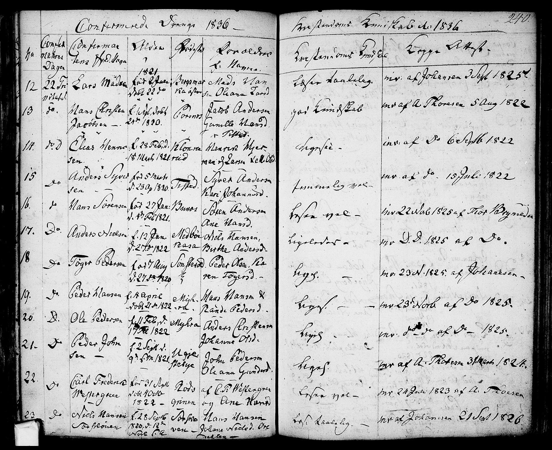 SAO, Berg prestekontor Kirkebøker, F/Fa/L0003: Ministerialbok nr. I 3, 1832-1842, s. 240