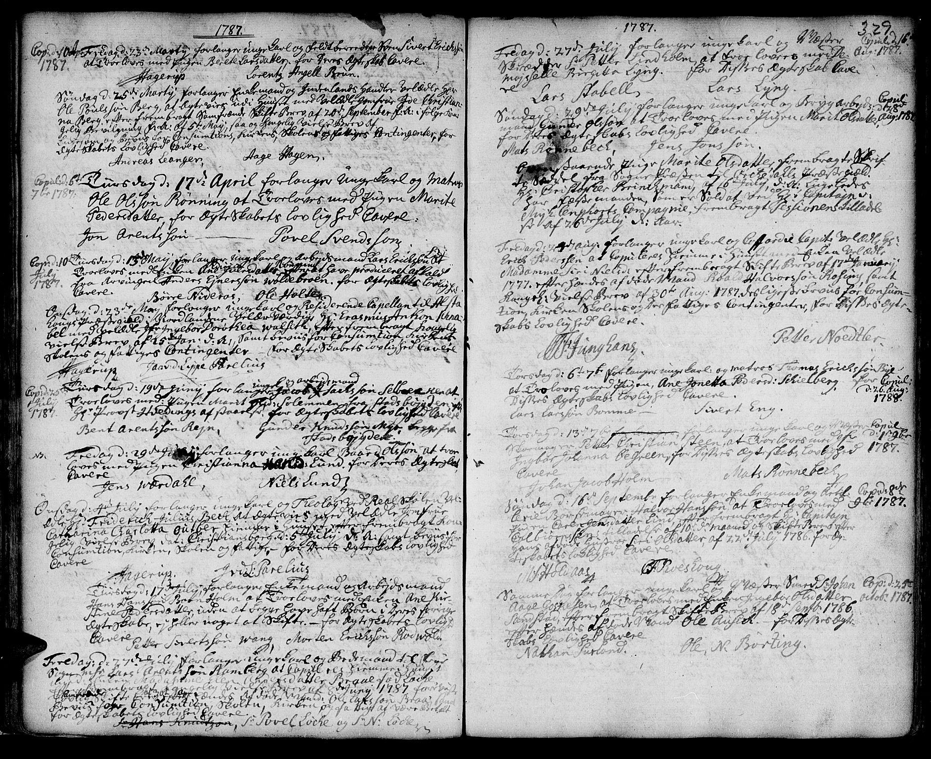 SAT, Ministerialprotokoller, klokkerbøker og fødselsregistre - Sør-Trøndelag, 601/L0038: Ministerialbok nr. 601A06, 1766-1877, s. 329