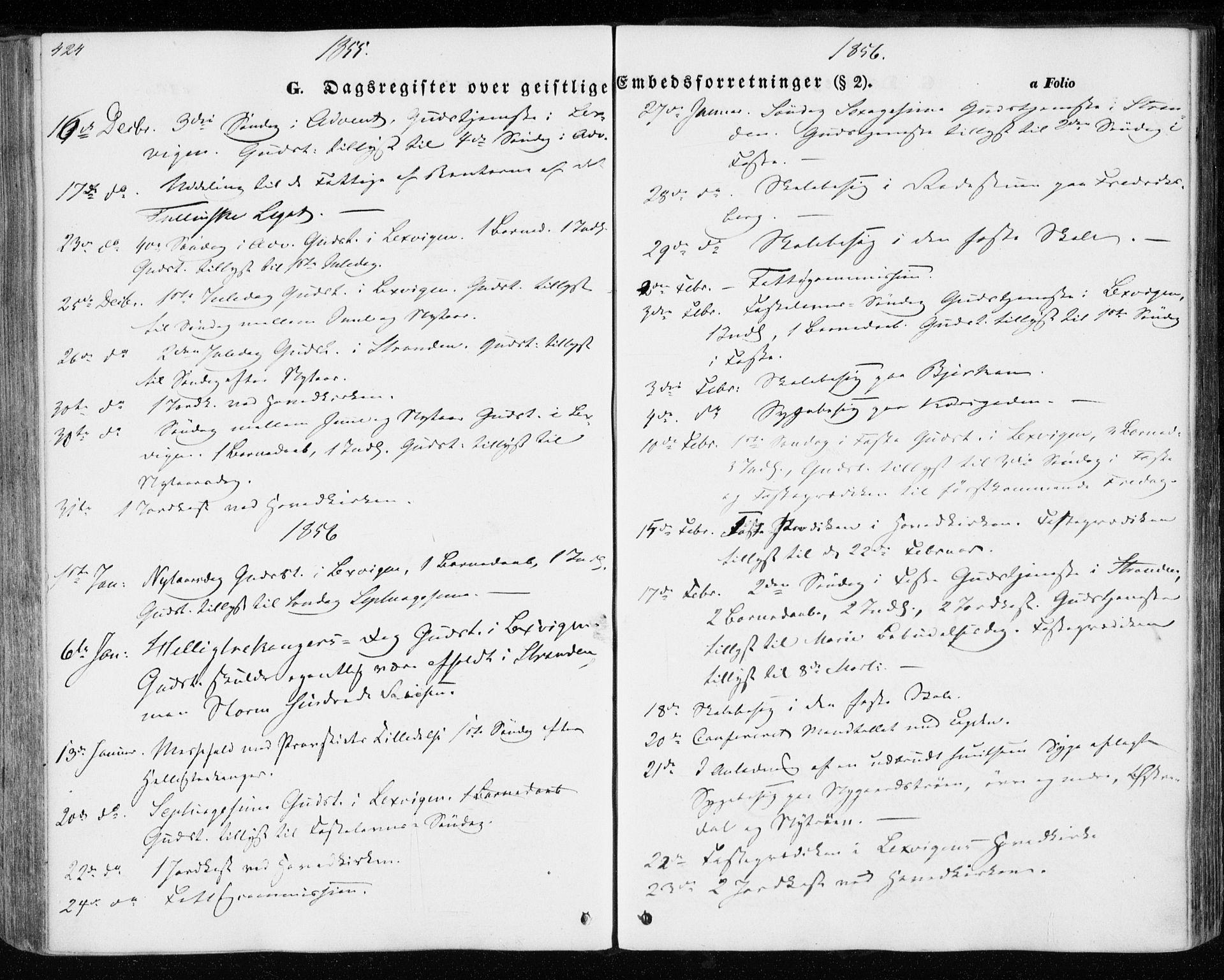 SAT, Ministerialprotokoller, klokkerbøker og fødselsregistre - Nord-Trøndelag, 701/L0008: Ministerialbok nr. 701A08 /1, 1854-1863, s. 424