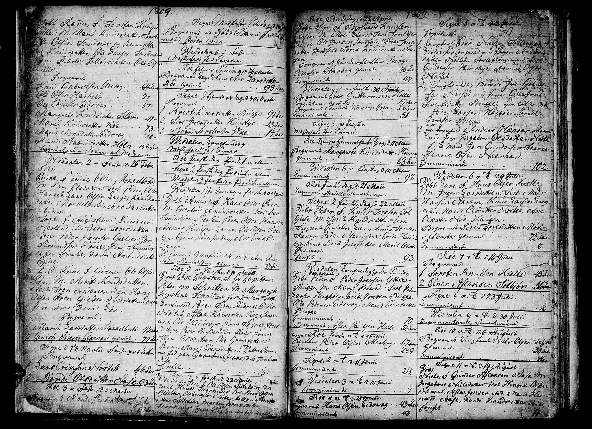 SAT, Ministerialprotokoller, klokkerbøker og fødselsregistre - Møre og Romsdal, 551/L0622: Ministerialbok nr. 551A02, 1804-1845, s. 40-41