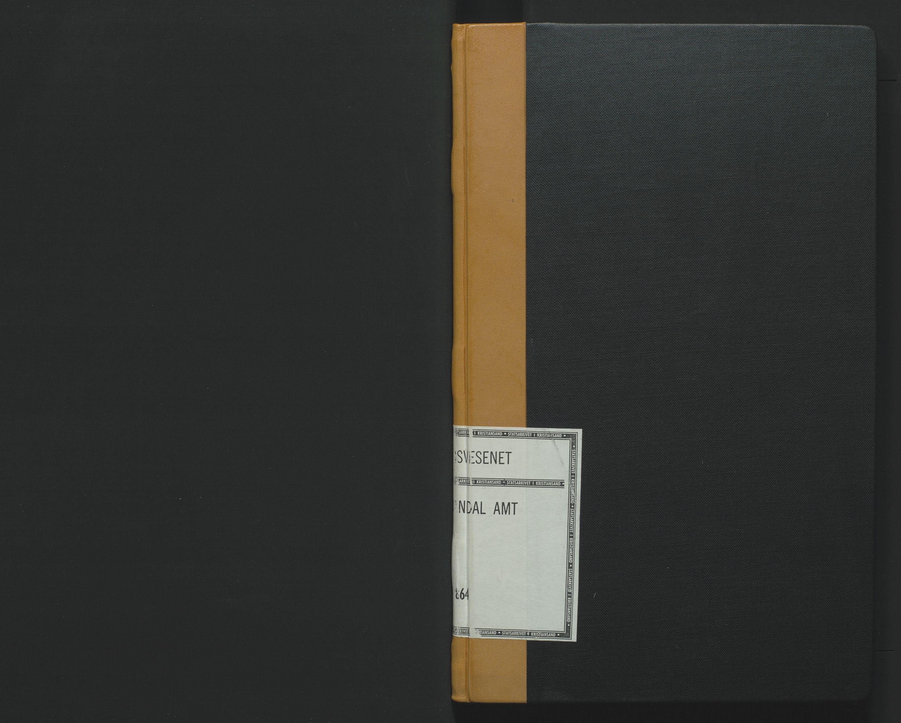 SAK, Utskiftningsformannen i Lister og Mandal amt, F/Fa/Faa/L0007: Utskiftningsprotokoll med register nr 7, 1863-1864