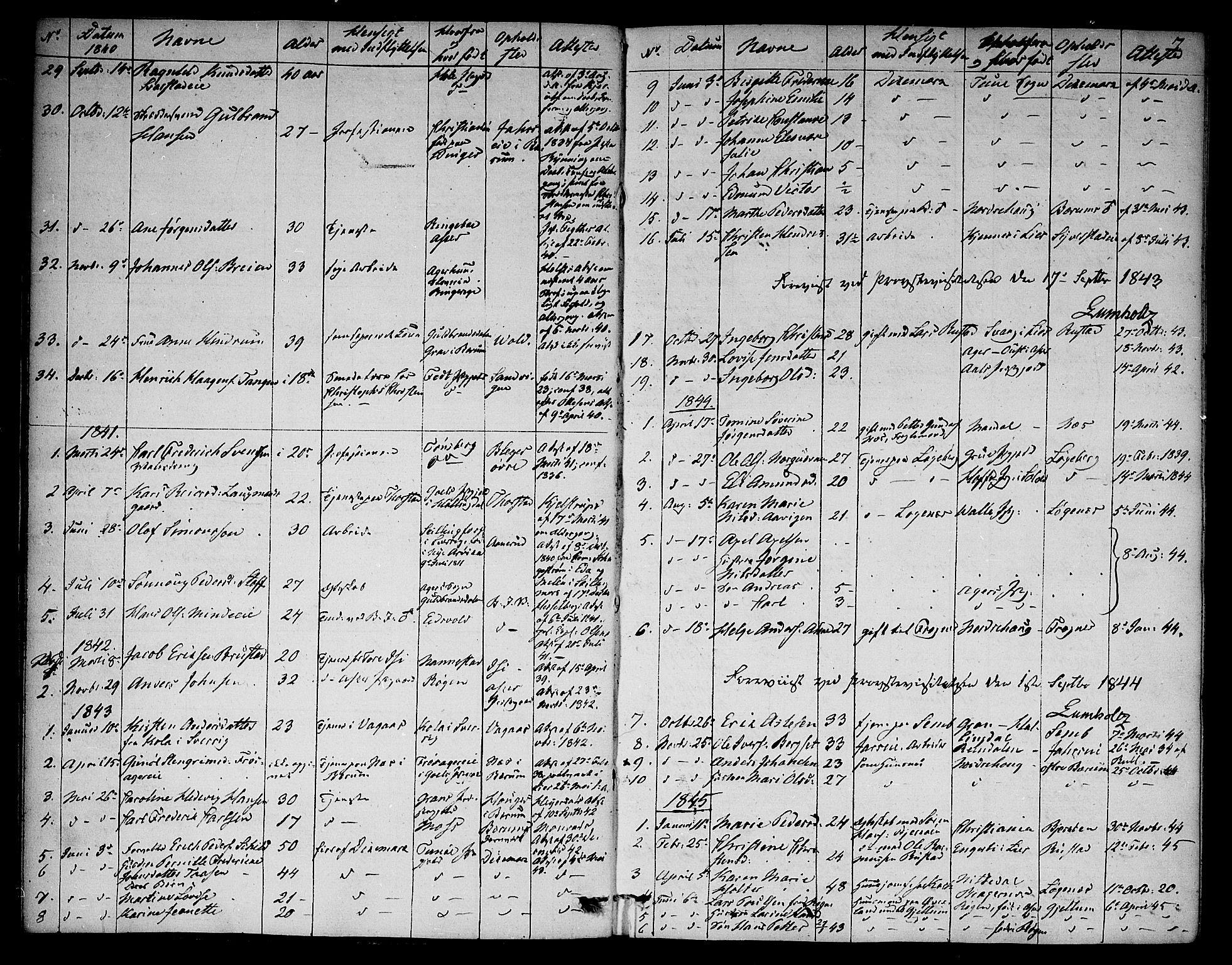 SAO, Asker prestekontor Kirkebøker, F/Fa/L0012: Ministerialbok nr. I 12, 1825-1878, s. 7