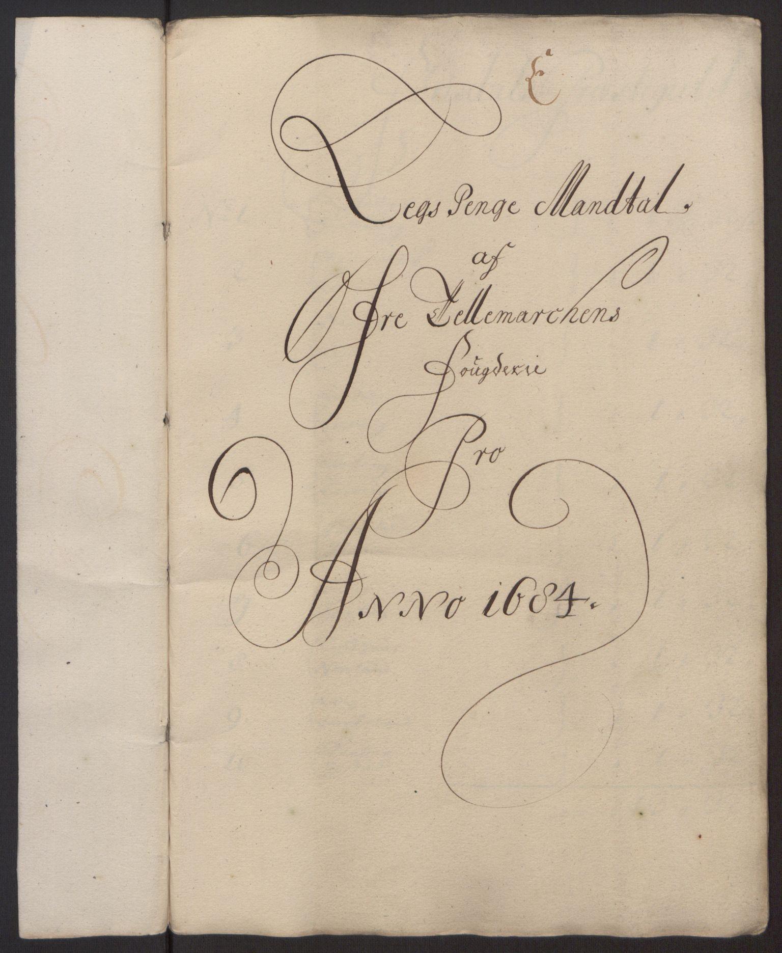 RA, Rentekammeret inntil 1814, Reviderte regnskaper, Fogderegnskap, R35/L2081: Fogderegnskap Øvre og Nedre Telemark, 1680-1684, s. 100