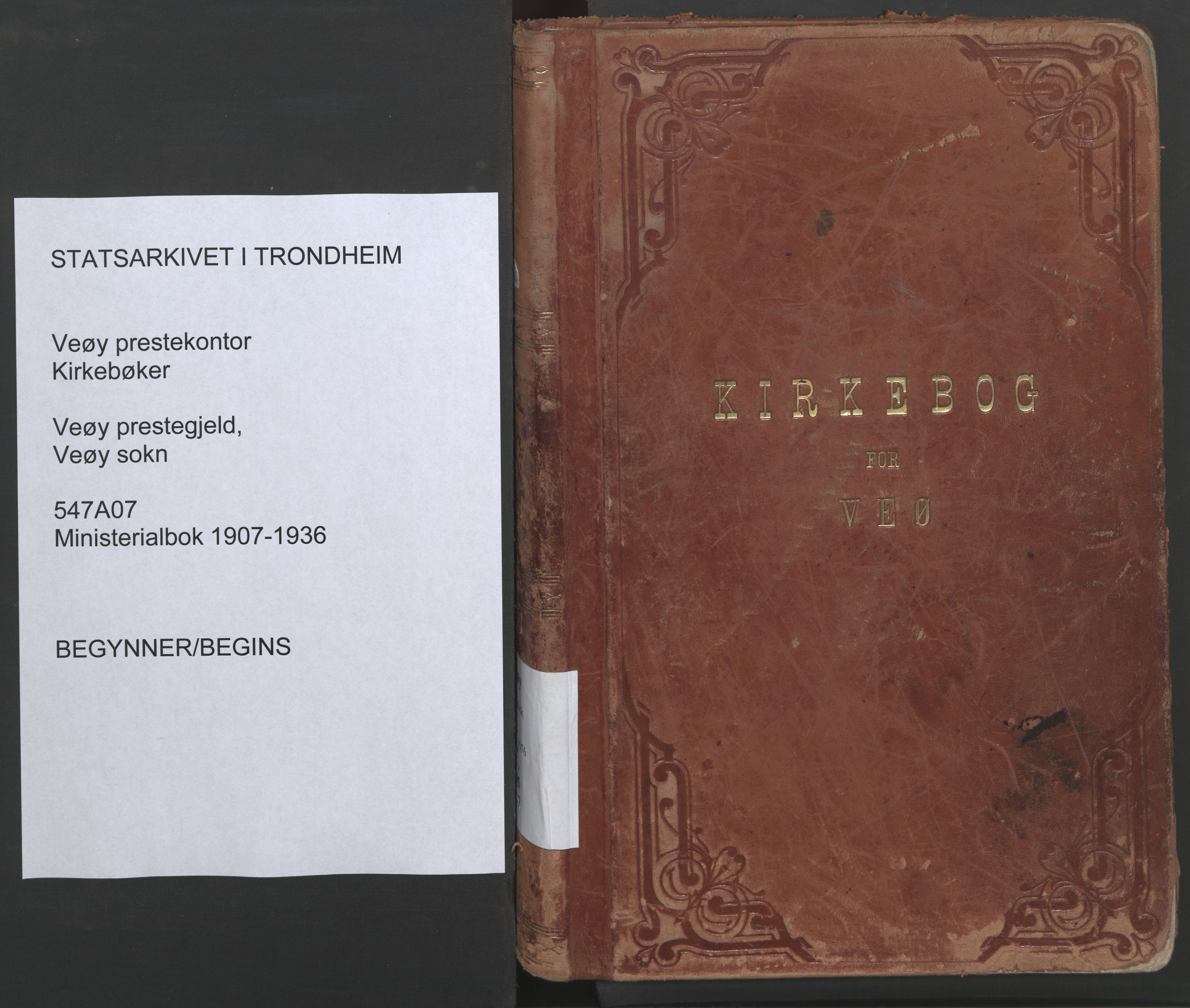 SAT, Ministerialprotokoller, klokkerbøker og fødselsregistre - Møre og Romsdal, 547/L0605: Ministerialbok nr. 547A07, 1907-1936