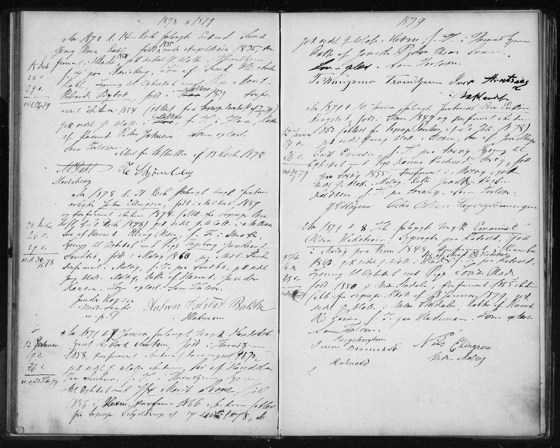 SAT, Ministerialprotokoller, klokkerbøker og fødselsregistre - Sør-Trøndelag, 606/L0299: Lysningsprotokoll nr. 606A14, 1873-1889