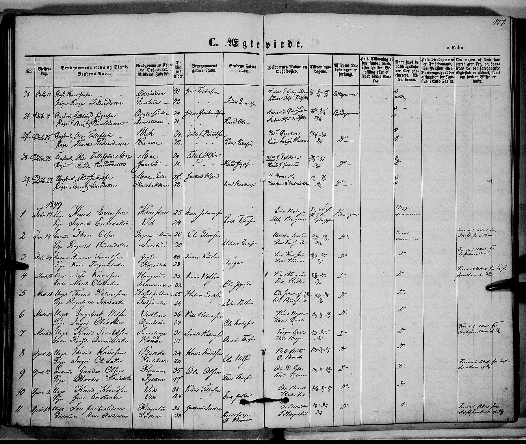 SAH, Vestre Slidre prestekontor, Ministerialbok nr. 1, 1844-1855, s. 177