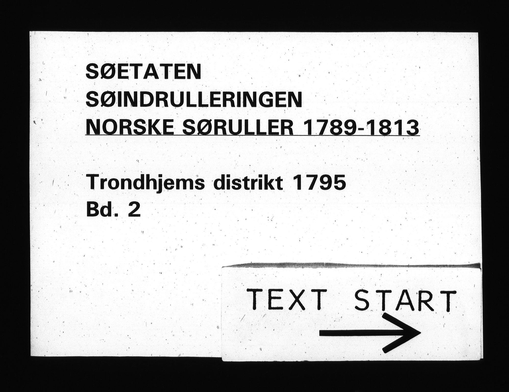 RA, Sjøetaten, F/L0311: Trondheim distrikt, bind 2, 1795