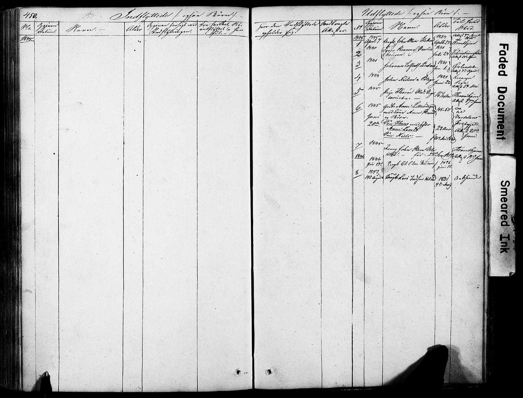 SAH, Lom prestekontor, L/L0012: Klokkerbok nr. 12, 1845-1873, s. 450-451