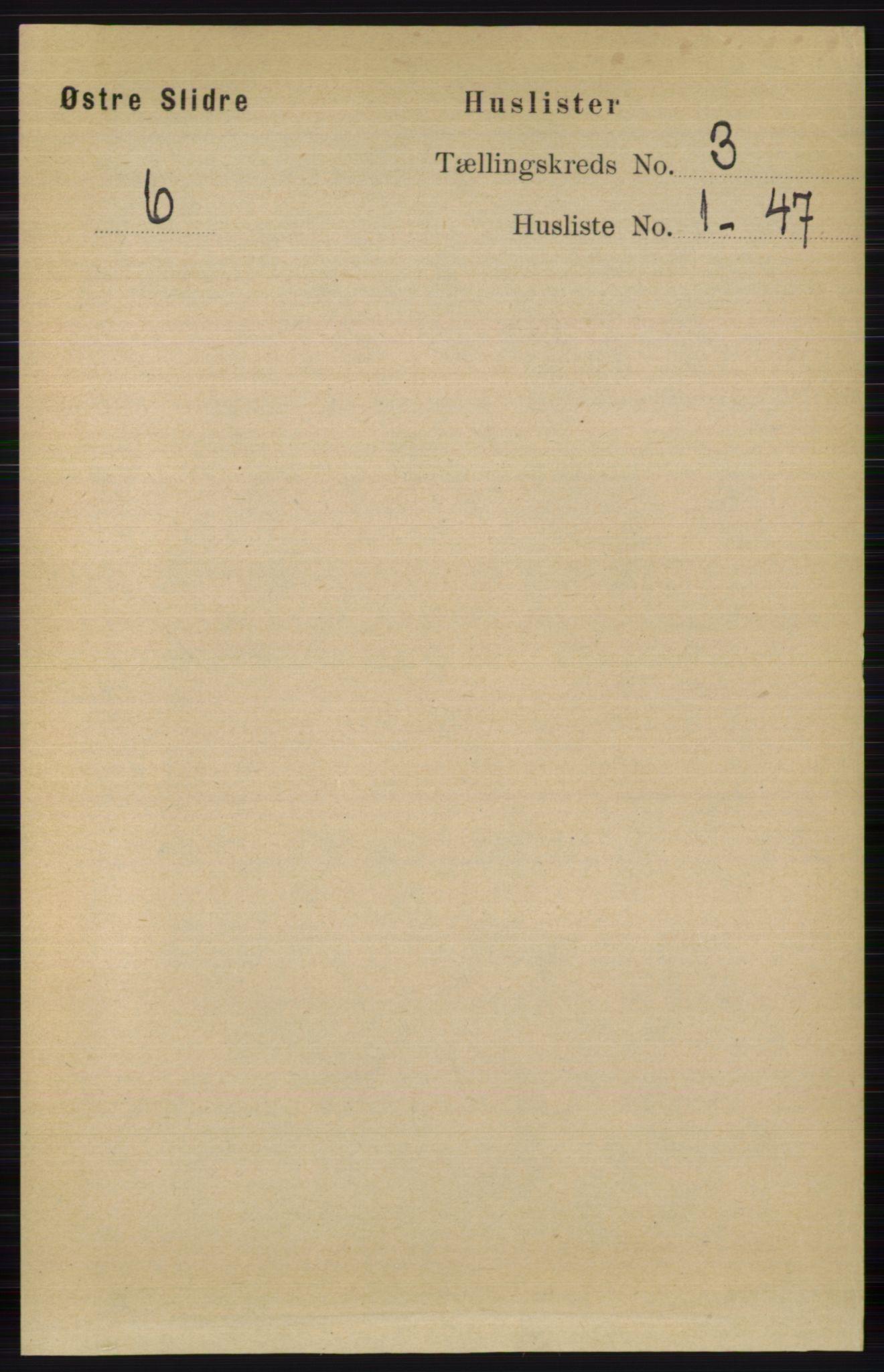 RA, Folketelling 1891 for 0544 Øystre Slidre herred, 1891, s. 549